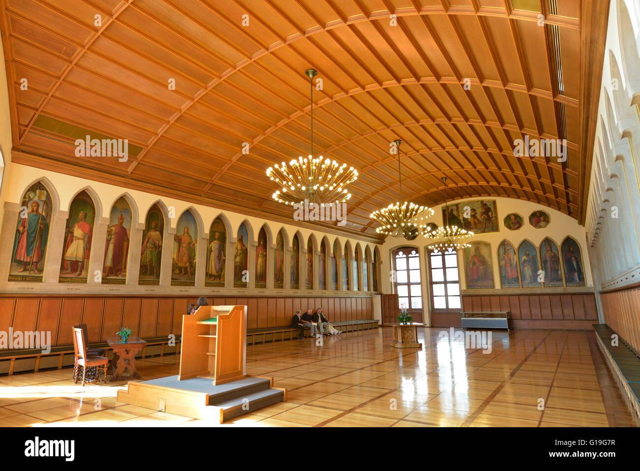 kaisersaal kaiser saal rathaus r mer frankfurt am main hessen deutschland r mer stockfoto. Black Bedroom Furniture Sets. Home Design Ideas