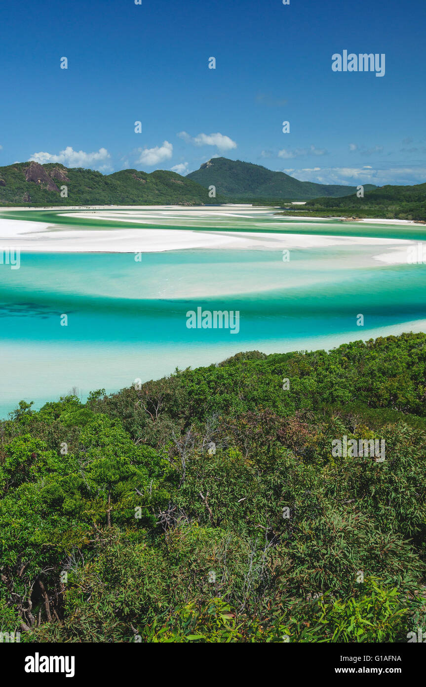 Whitehaven Beach in den Whitsundays, Australien Stockfoto