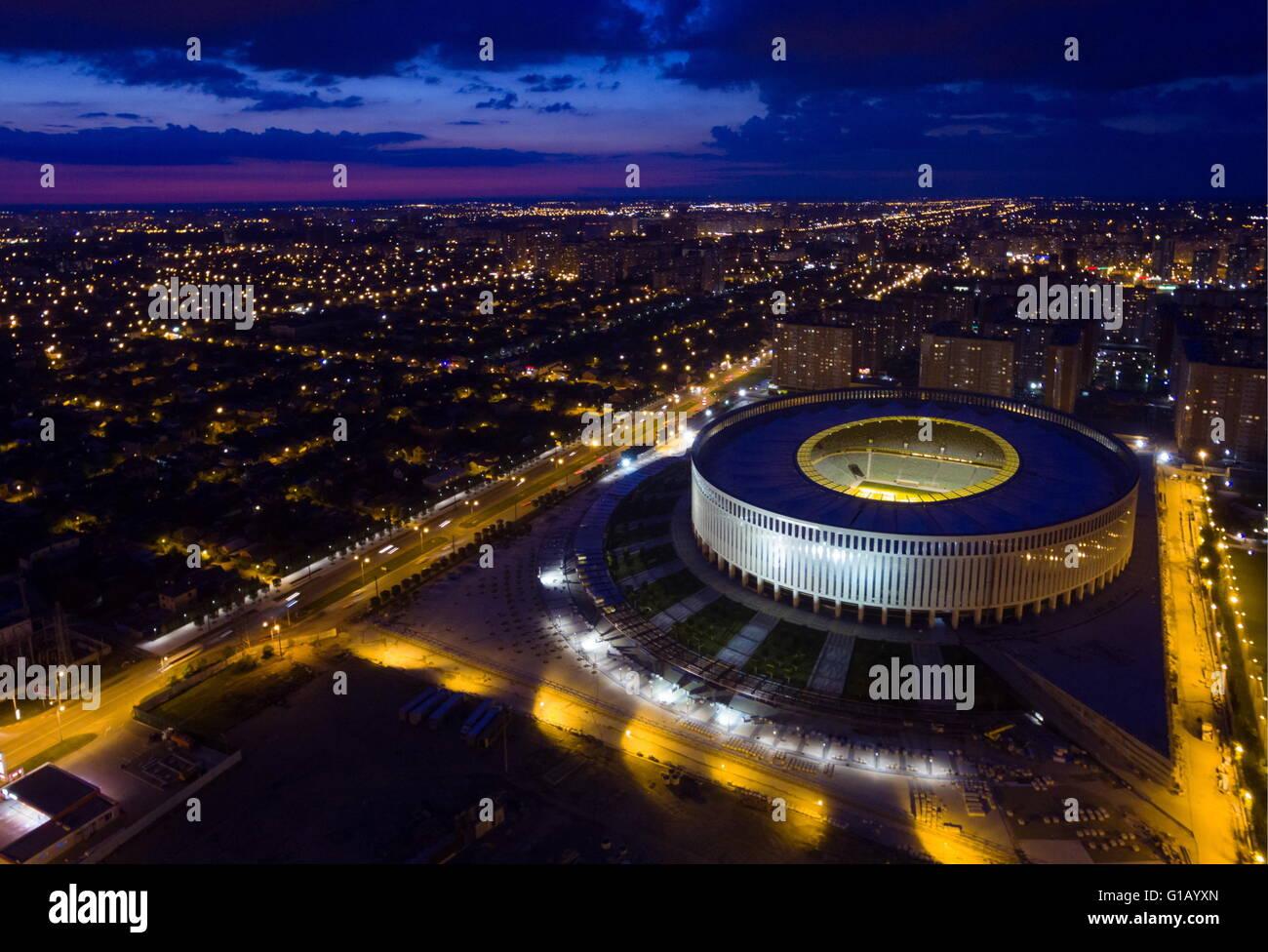 KRASNODAR, RUSSLAND. 8. MAI 2016. Ein Blick auf Krasnodar Stadion. Vitaly Timkiv/TASS Stockbild