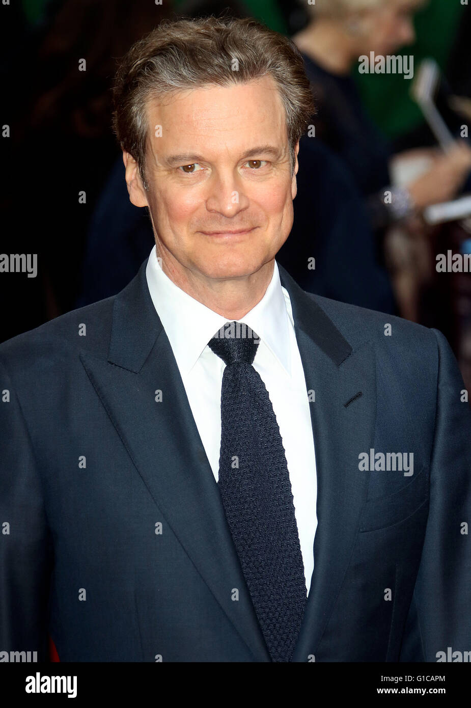 11. April 2016 - Colin Firth Teilnahme an Auge in der Sky UK Premiere beim Curzon, Mayfair in London, Vereinigtes Stockbild