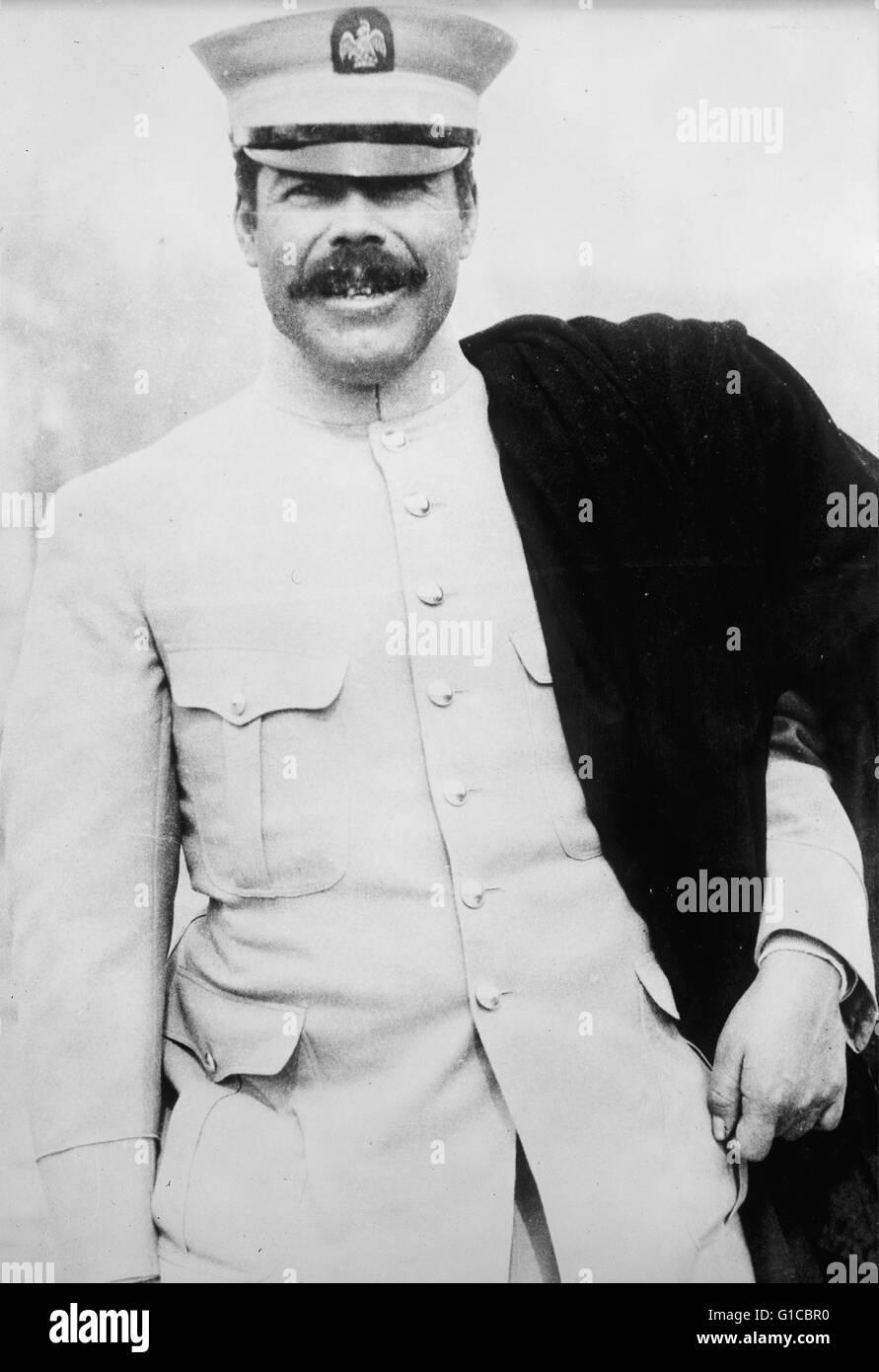 Fotografisches Porträt des mexikanischen Revolutionär Pancho Villa (1878-1923) General und einer der prominentesten Stockbild