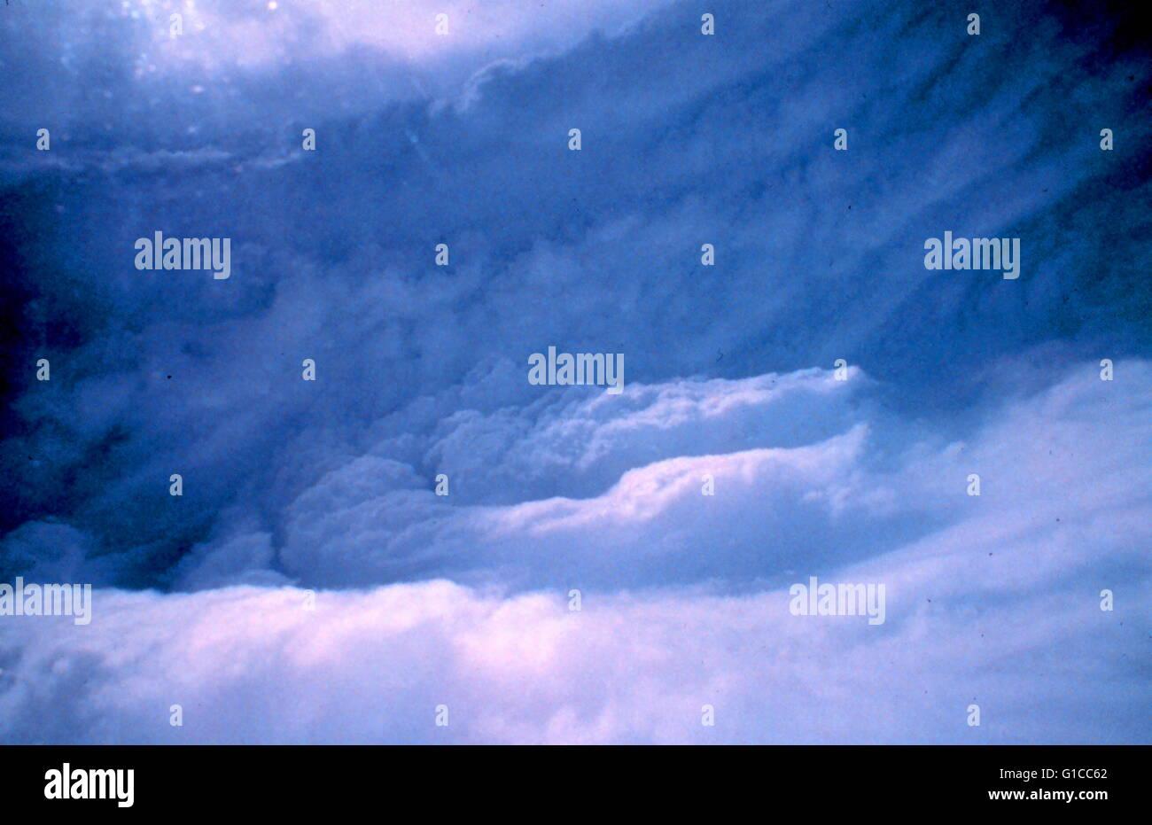 Augenwand des Hurrikans Stockbild