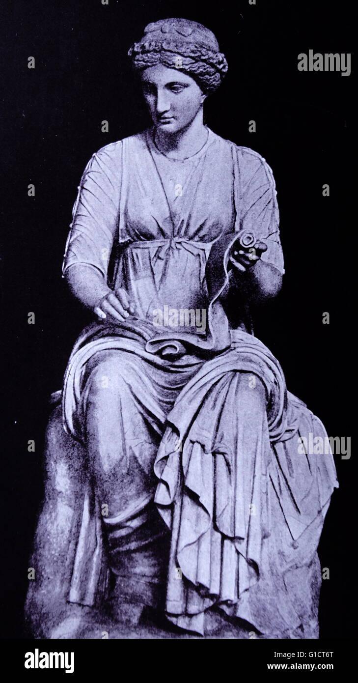Statue von Clion, die Muse der Geschichte Stockbild