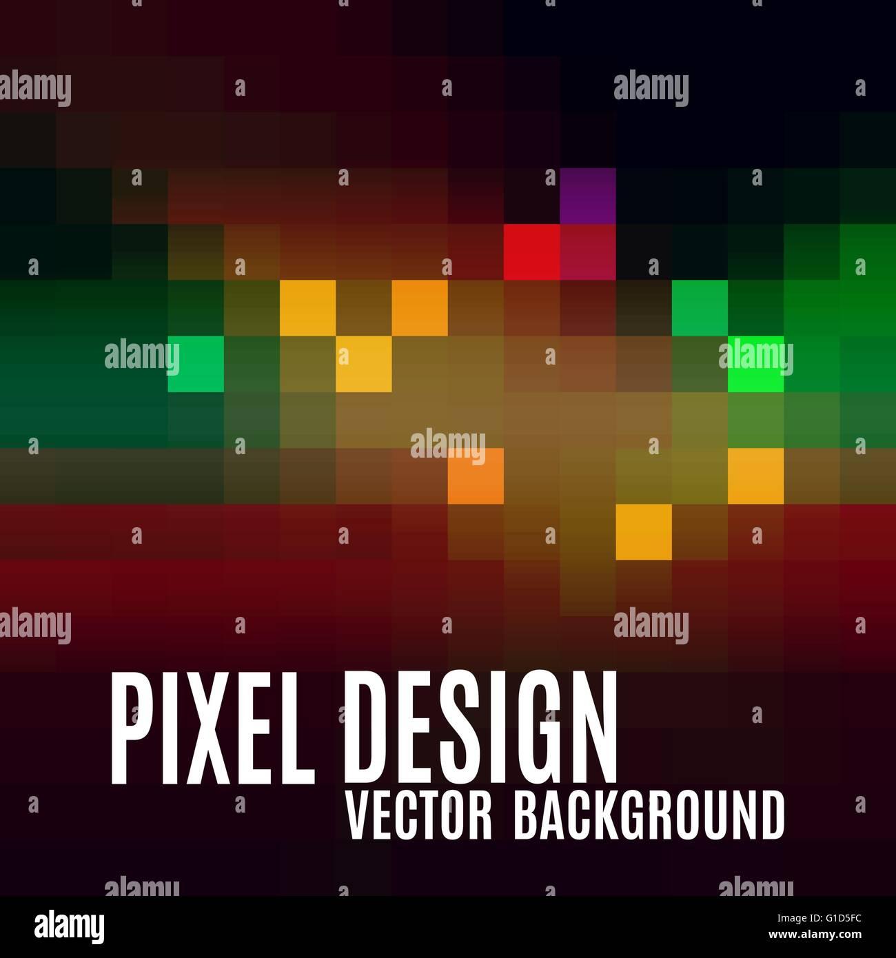 Pixel abstrakten Hintergrund. Buntes Mosaik. Moderne Vektor-Design ...