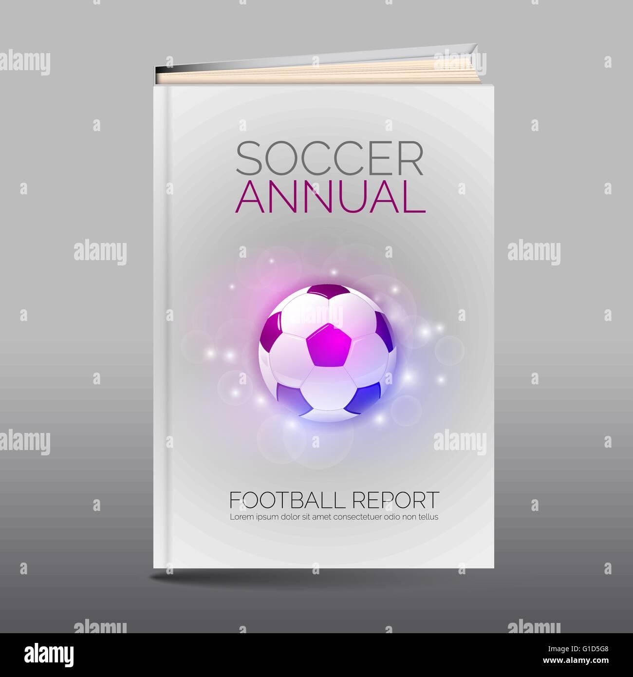 Moderne abstrakte Broschüre als Buch-Flyer-Design-Vorlage. Fußball ...