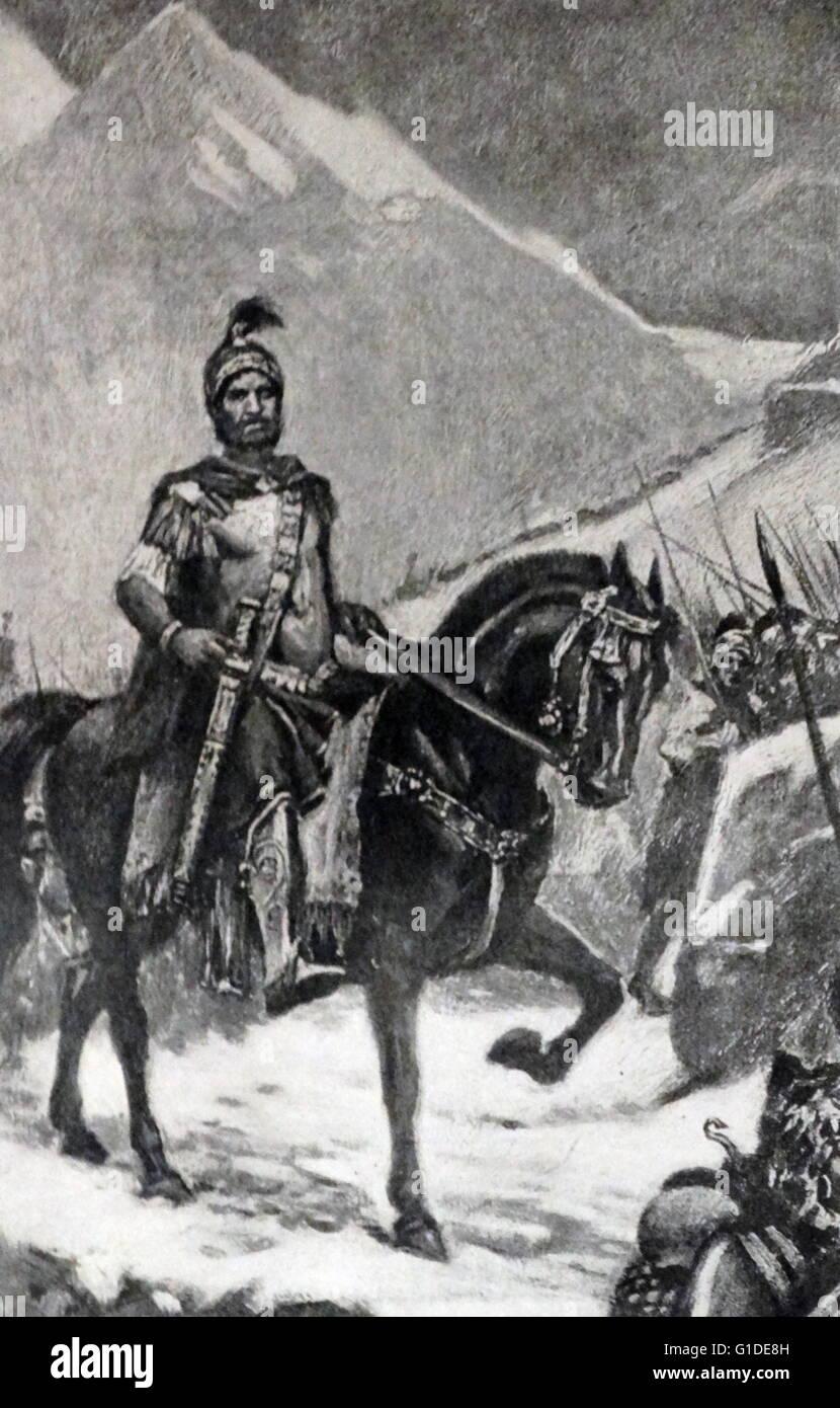 Gravur Mit Hannibal 247 181 V Chr Eine Punische Feldherr Aus