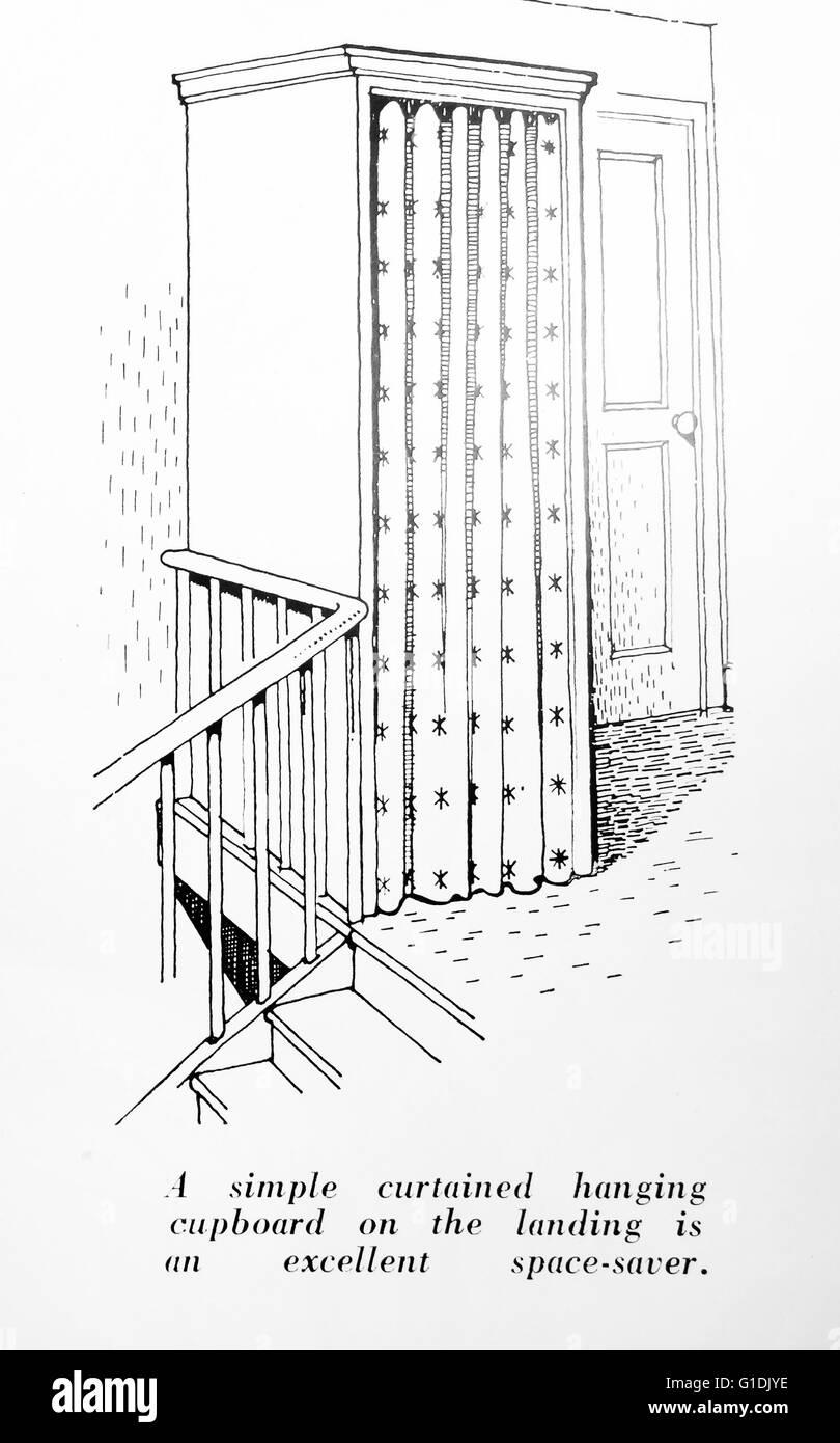 Platzsparende nach Hause innen Schrank design 1940 Großbritannien ...