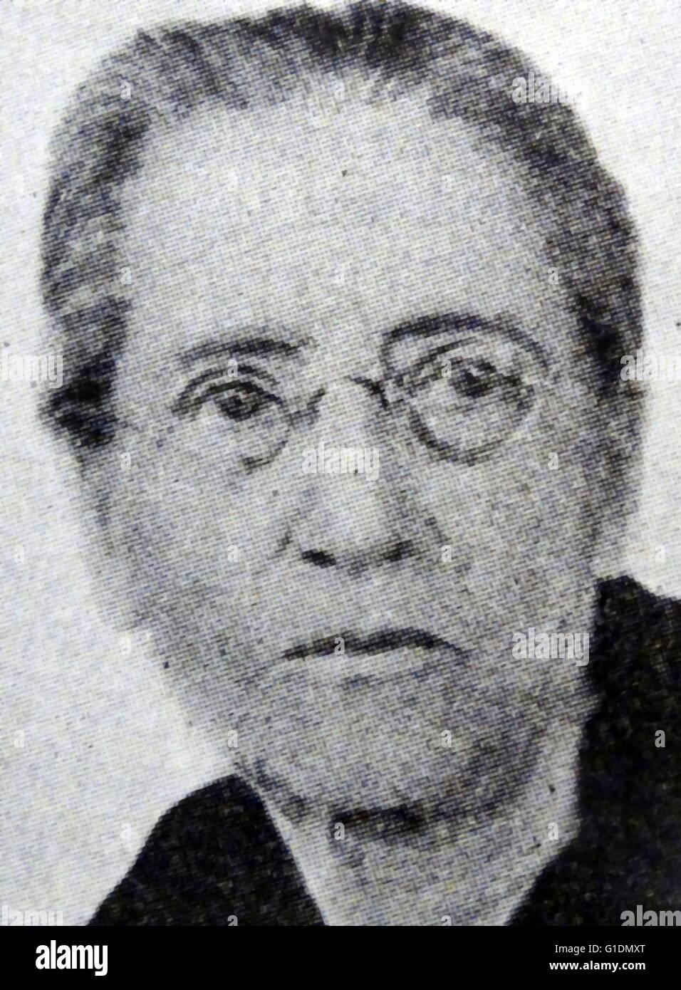 Fotografisches Porträt von Emily Greene Balch (1867-1961), US-amerikanischer Ökonom, Soziologe und Pazifist. Stockbild