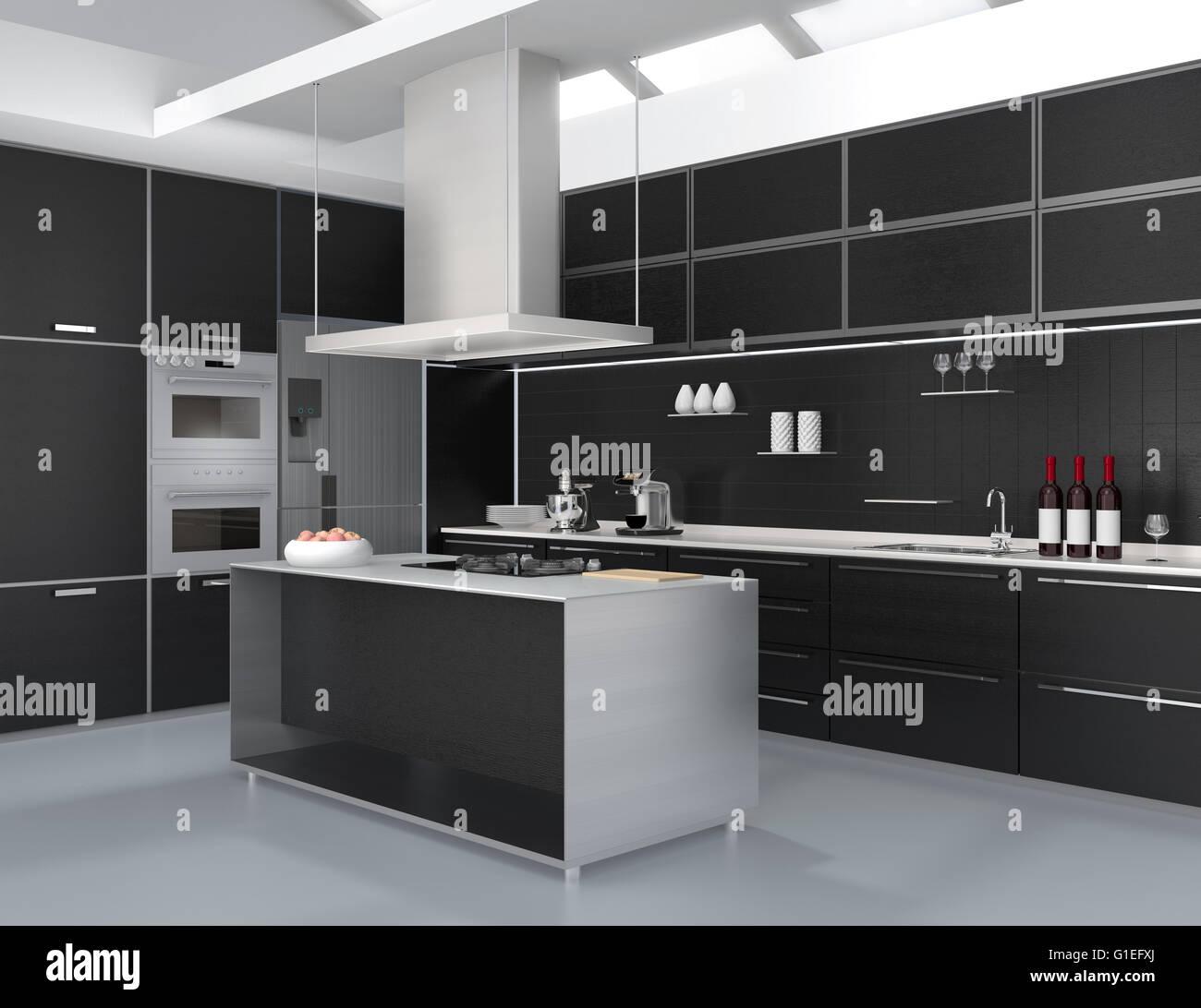 Ziemlich Küche Farben Mit Schwarzen Geräten Bilder - Ideen Für Die ...