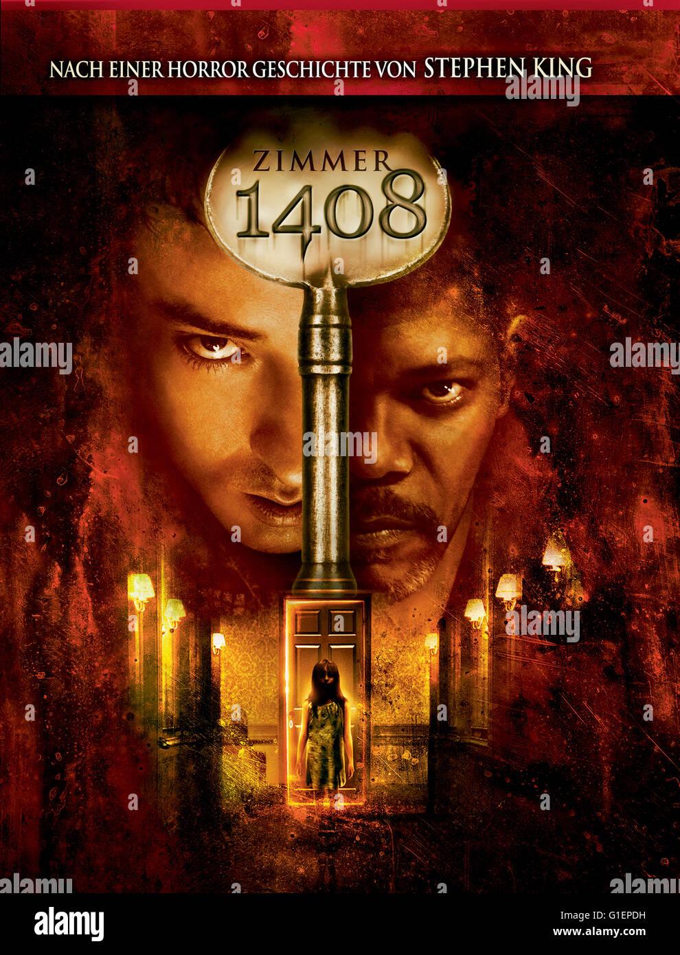 Zimmer 1408, USA 2007, Regie: Mikael Hafström, Kinoplakat Stockbild