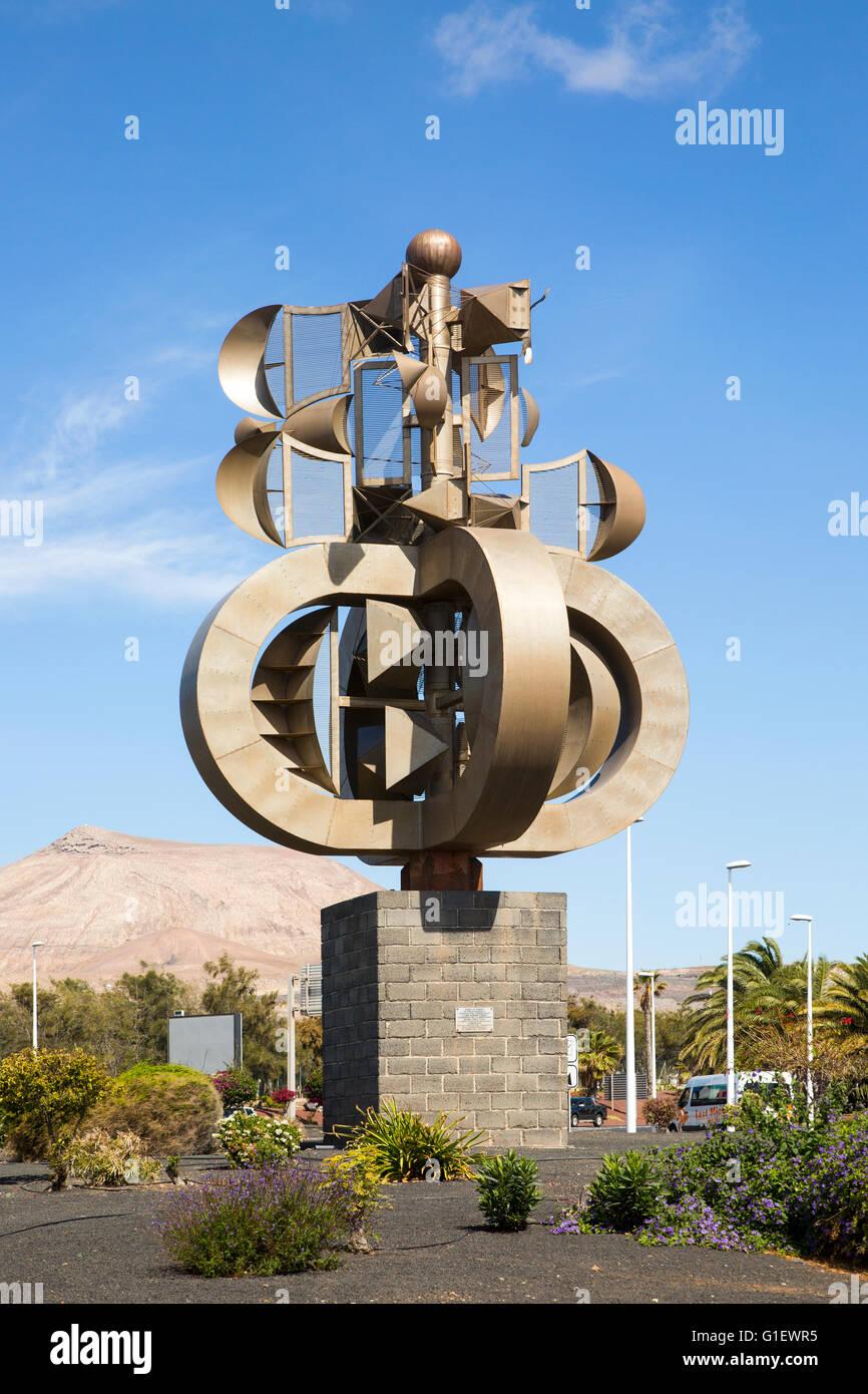 César Manrique-Skulptur am Flughafen Lanzarote, Kanarische Inseln, Spanien Stockbild