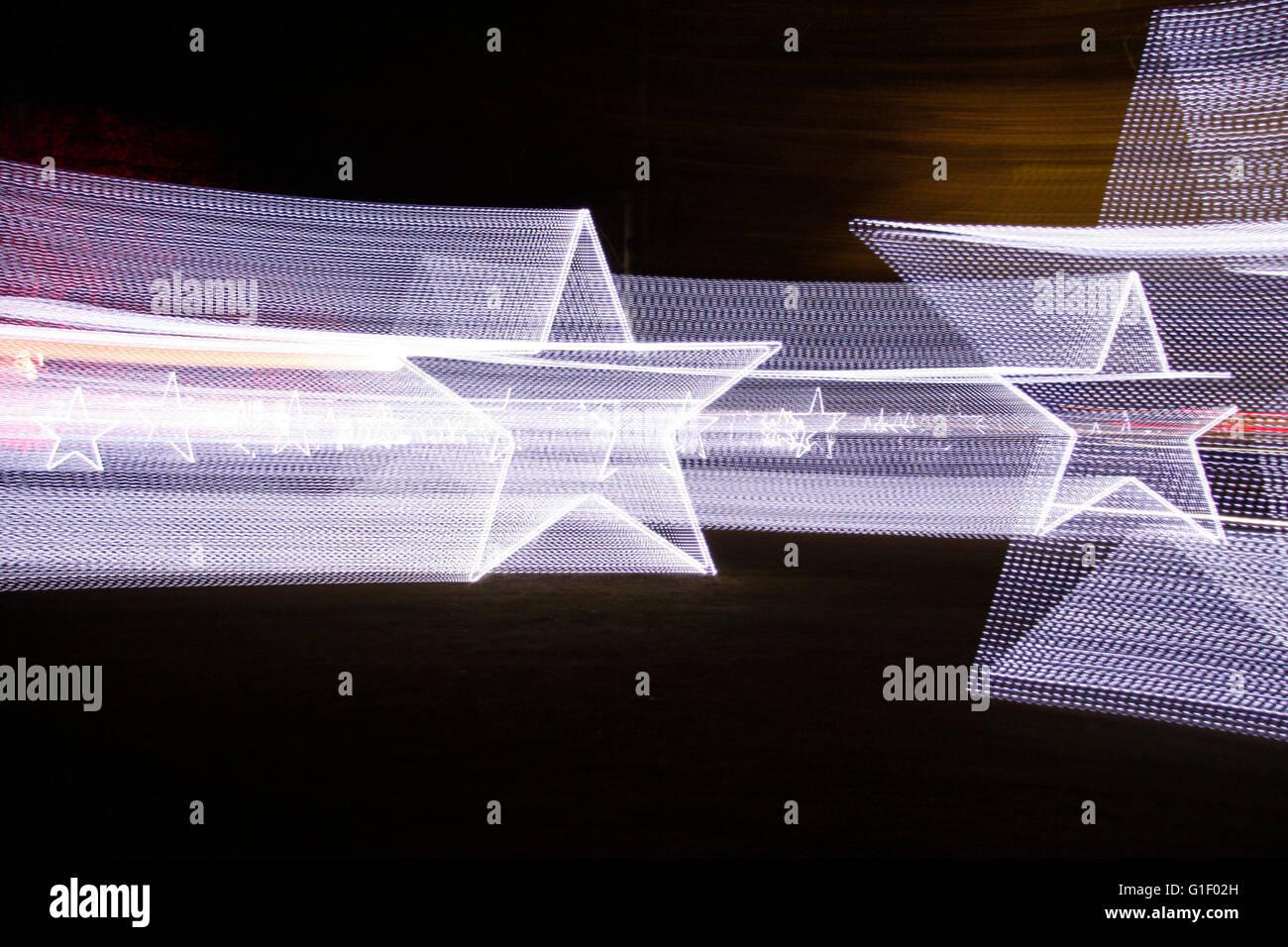 Lichtspur Abstrakt: Sterne. Stockbild