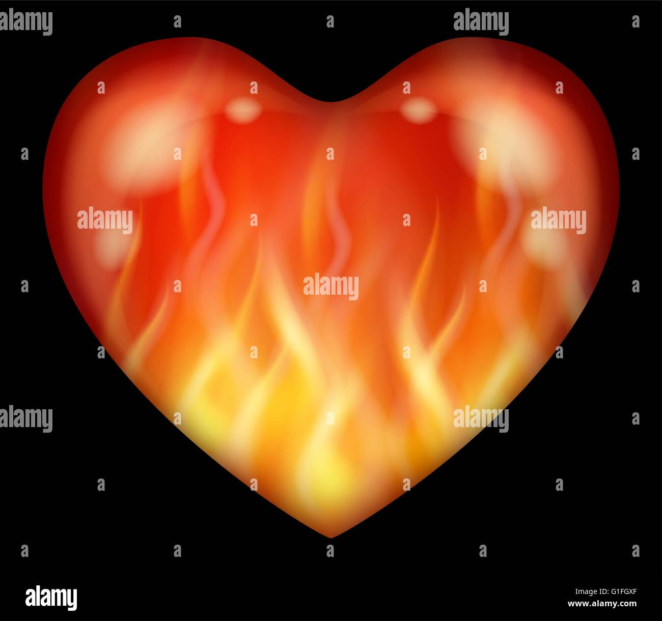 flaming heart stockfotos flaming heart bilder alamy. Black Bedroom Furniture Sets. Home Design Ideas