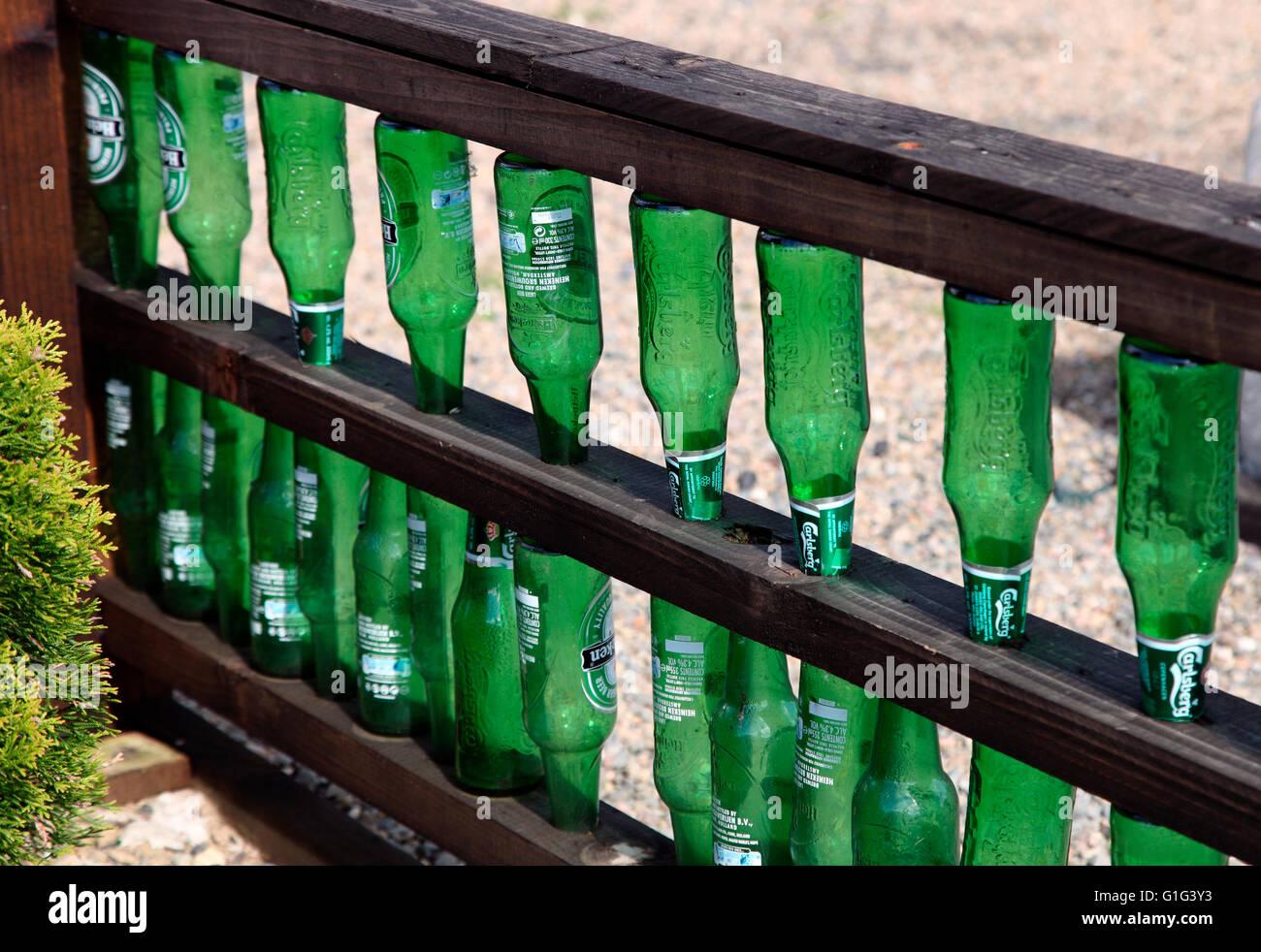 Grune Flasche Zaun Am Carrickmacross Gemeinschaft Kleingarten
