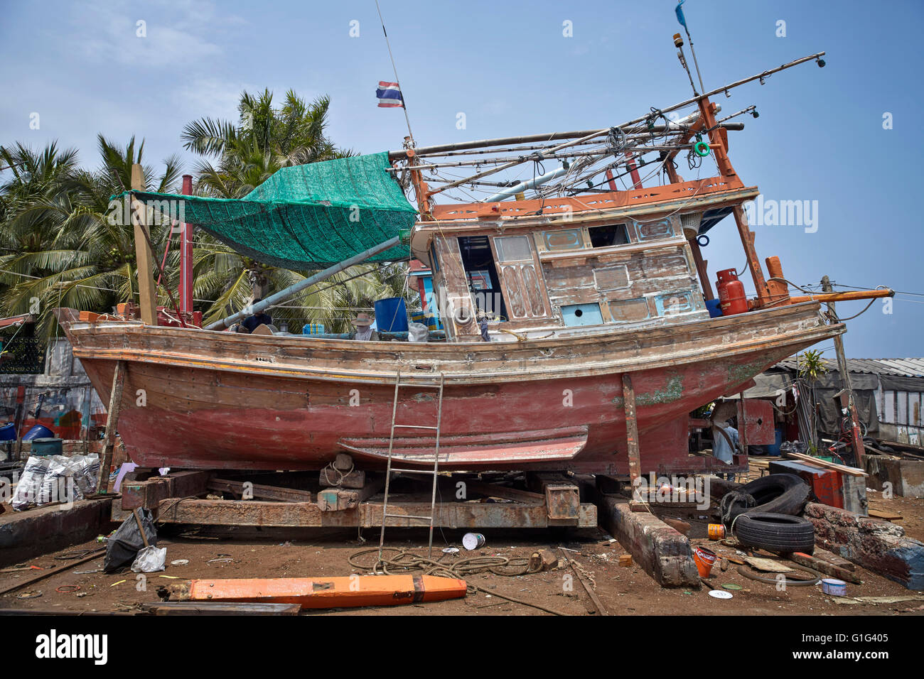 Wooden Boat Repair Stockfotos & Wooden Boat Repair Bilder - Alamy