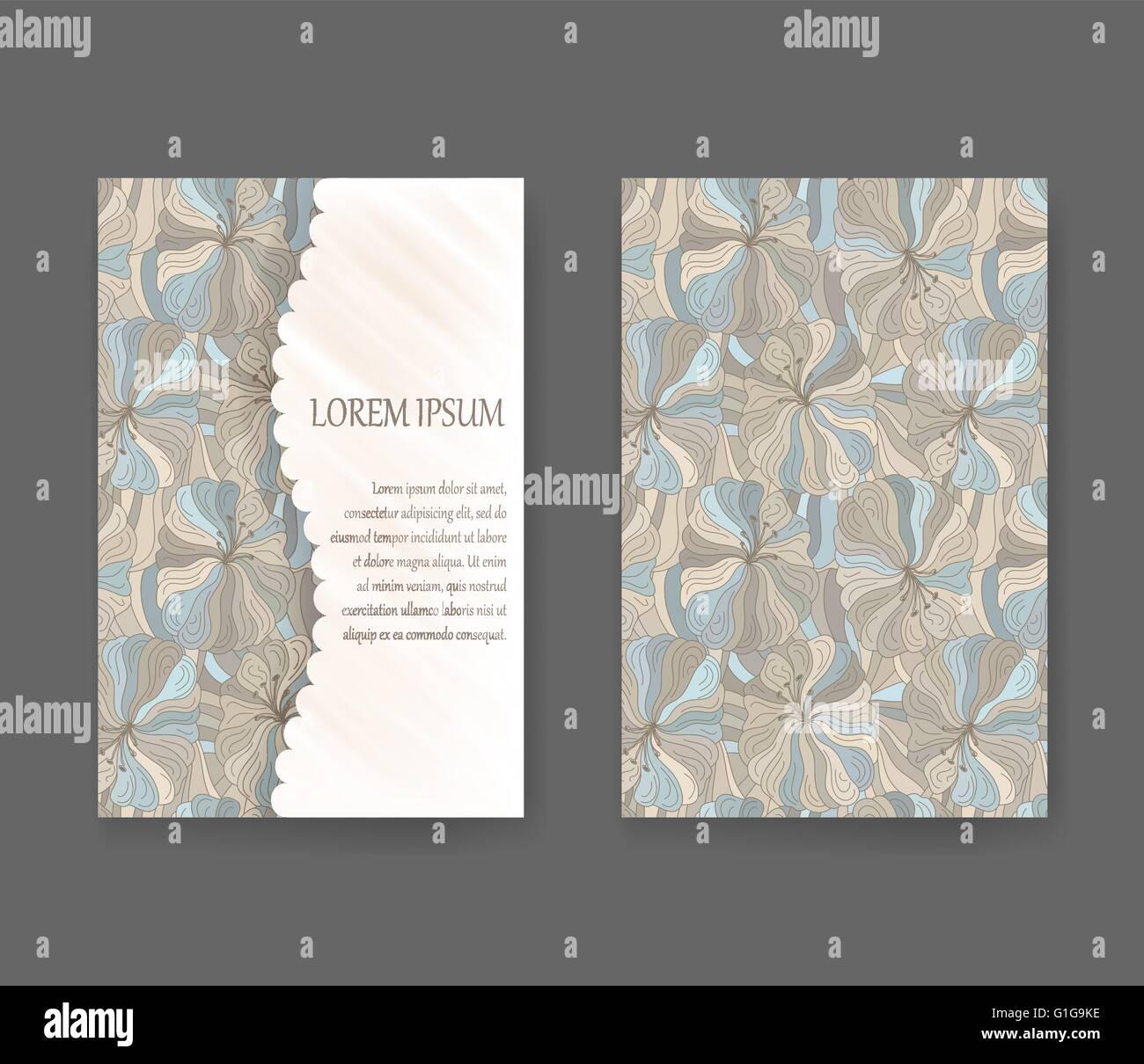 Boho-Stil-Vorlage für Karten, Einladungen, Banner mit Probe Text ...