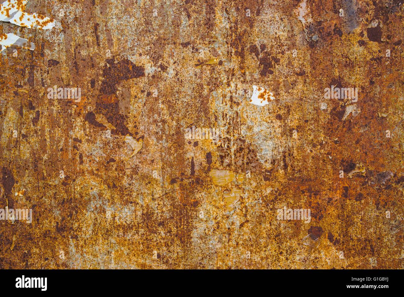 Korrosion-Textur, Stahl Platte Oberfläche, detaillierte Struktur des alten rostigen Schrott Stockbild