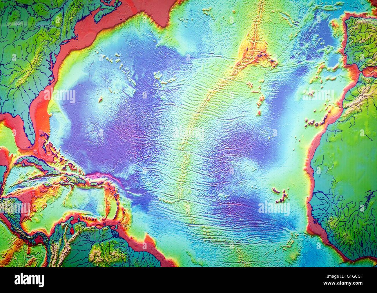Karte Von Mid Atlantic Ridge Und Vulkane Casa De Los Volcanes