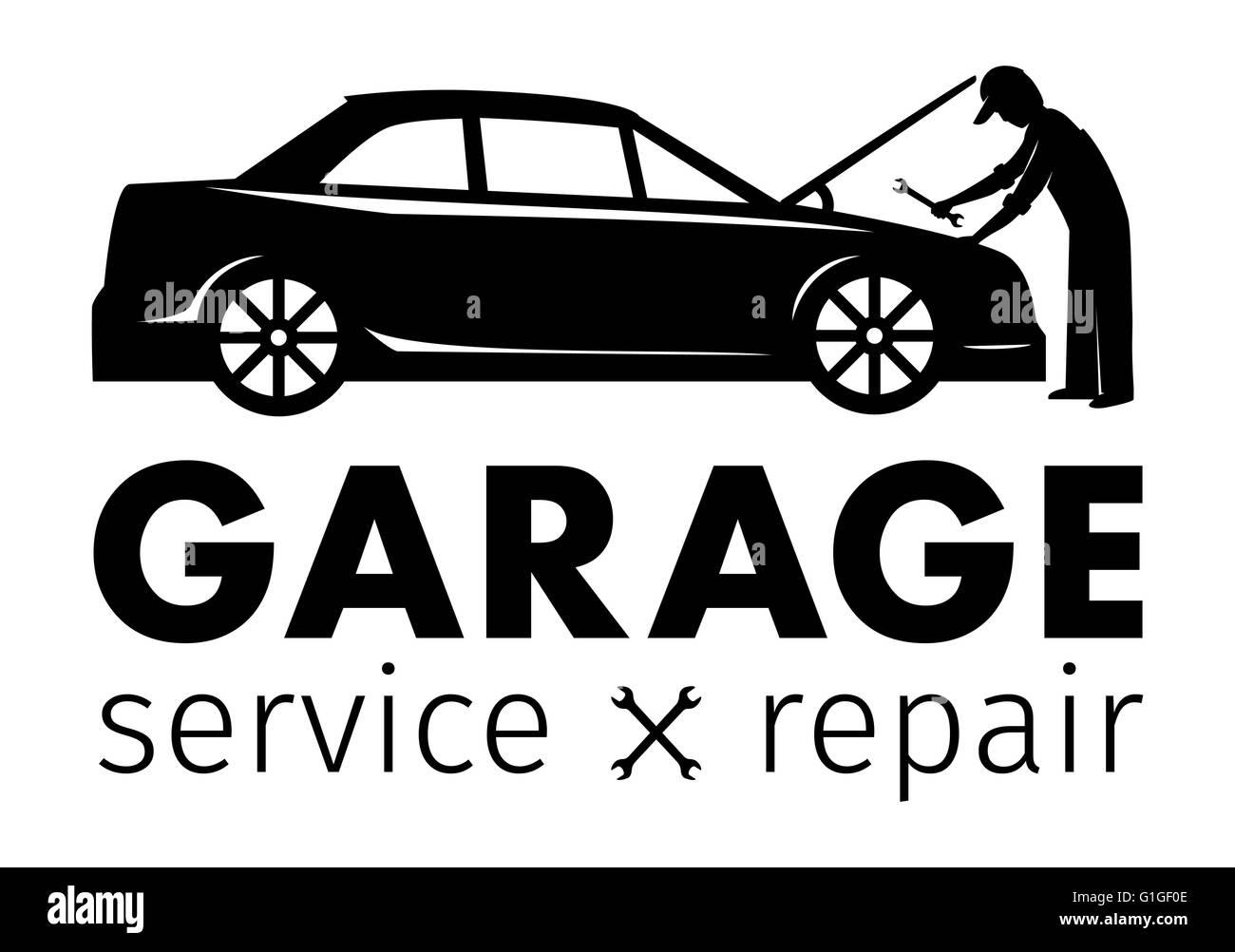 Auto-Center, Werkstatt Service und Reparatur-Logo, Vektor Vorlage ...