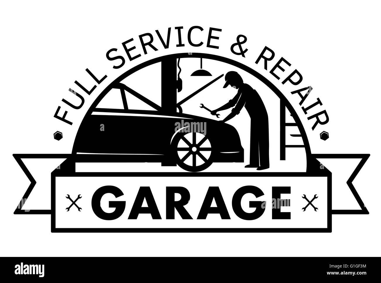 Mechanic Technician Car Repair Retro Stockfotos & Mechanic ...
