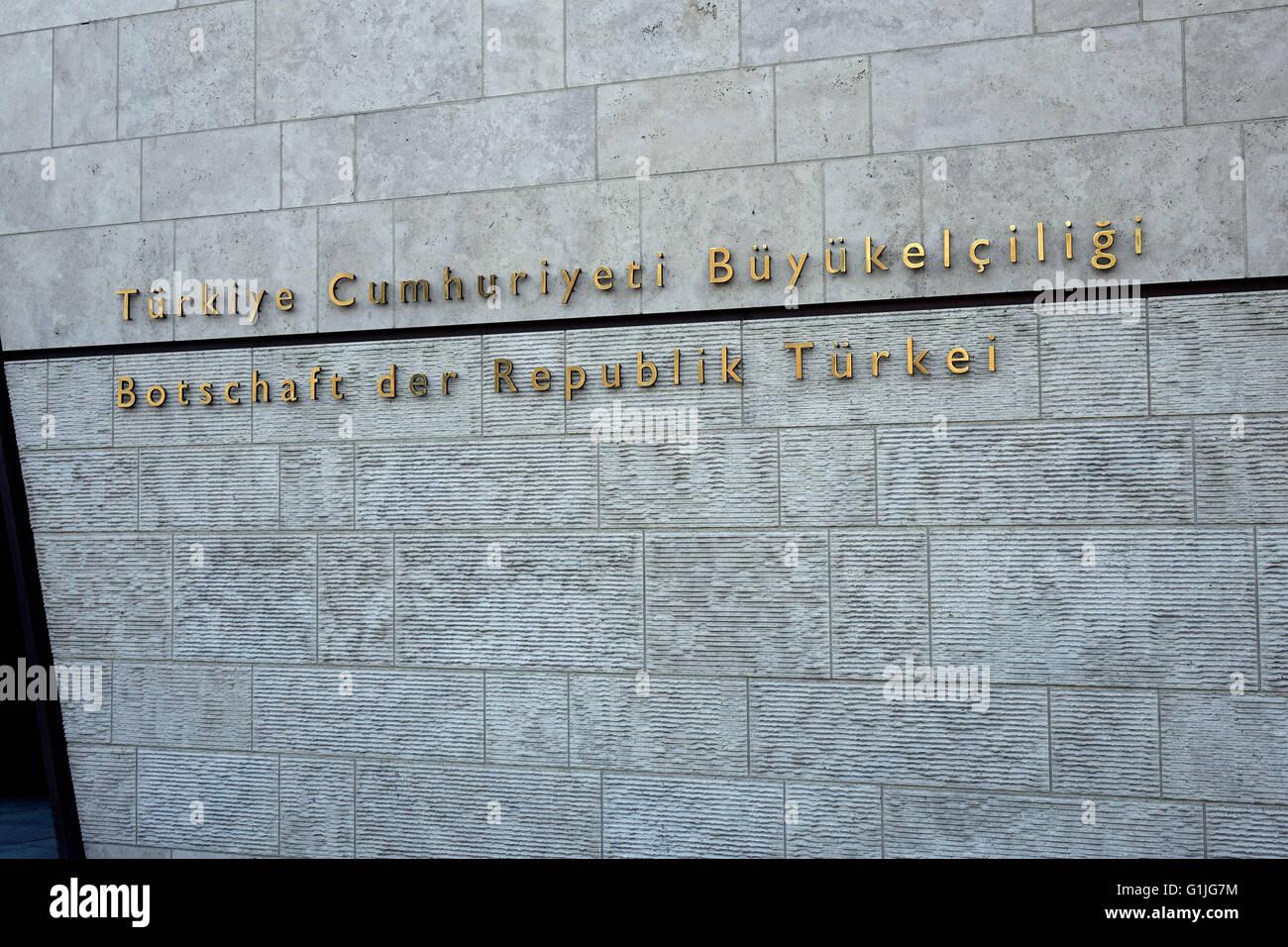 Berlin Tiergarten, Deutschland. 13. Februar 2016. Die türkische ...