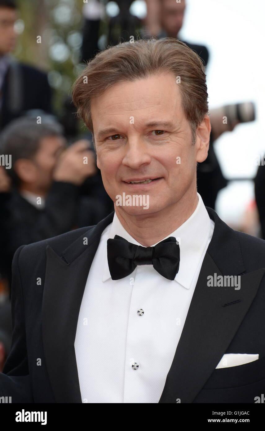 "Cannes, Frankreich. 11. Mai 2016. CANNES, Frankreich - Mai 16: Schauspieler Colin Firth und Livia Firth ""Loving"" Stockbild"