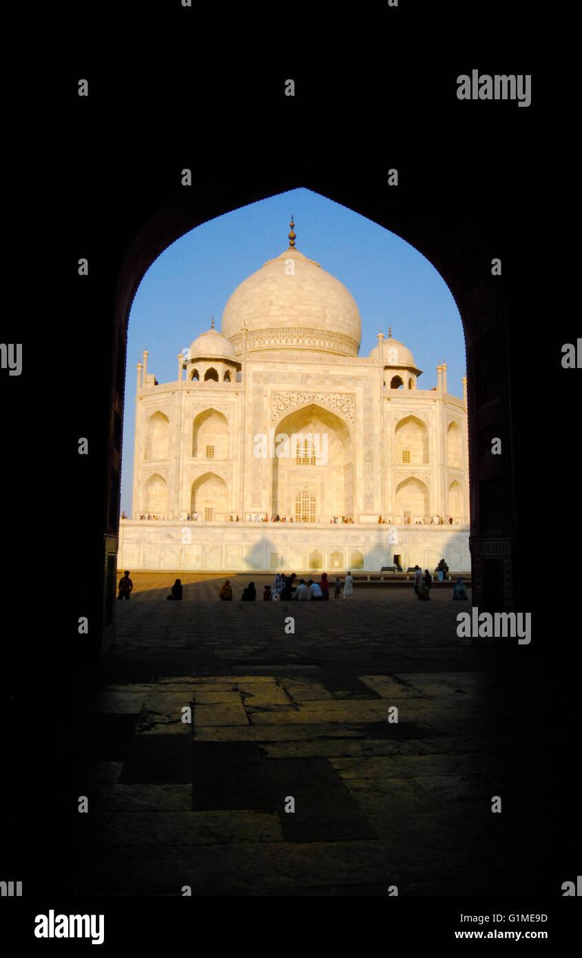 Das Taj Mahal. Agra, Uttar Pradesh, Indien. Stockbild