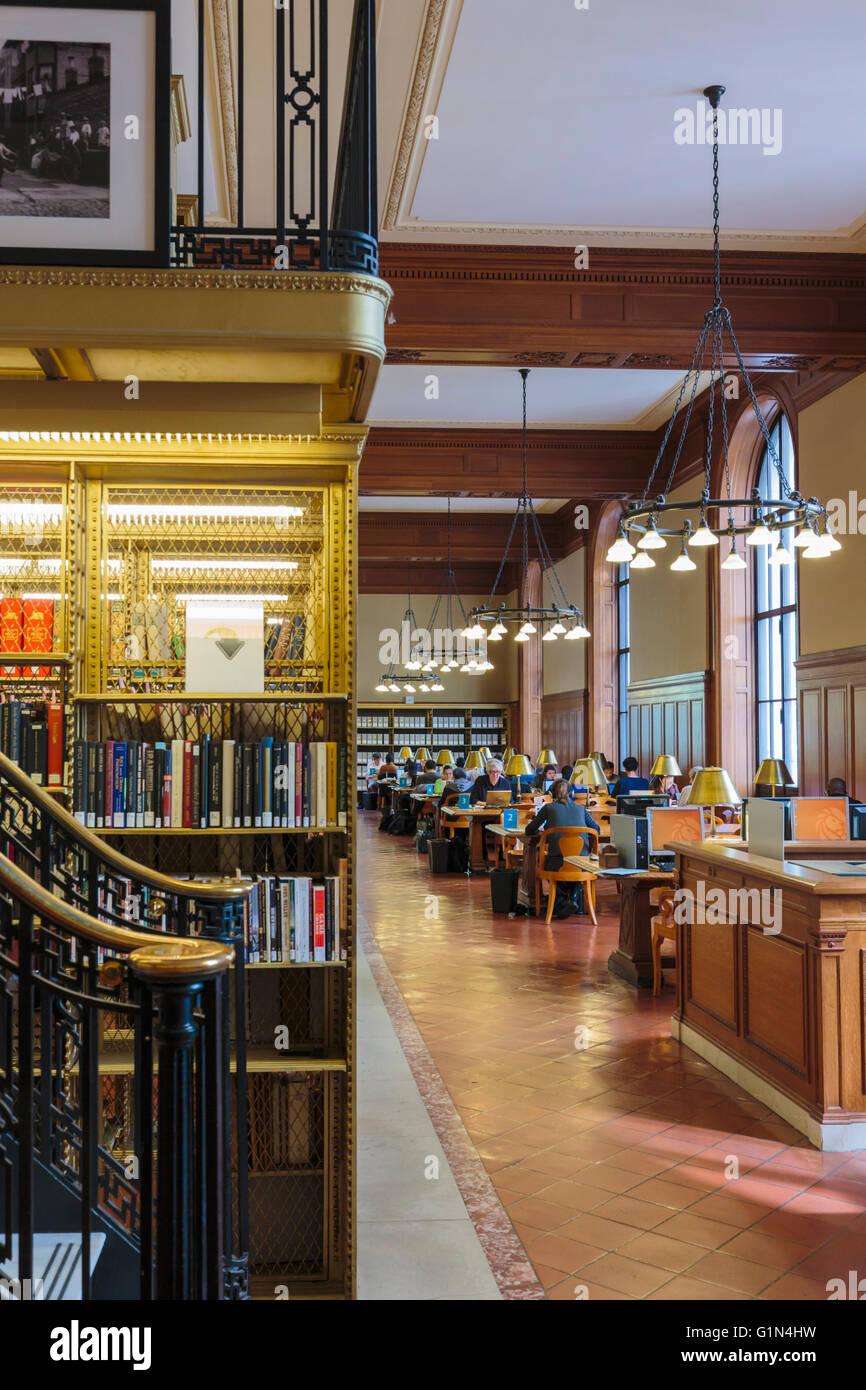 New York, New York State, Vereinigten Staaten von Amerika.  Die New York Public Library. Stockbild