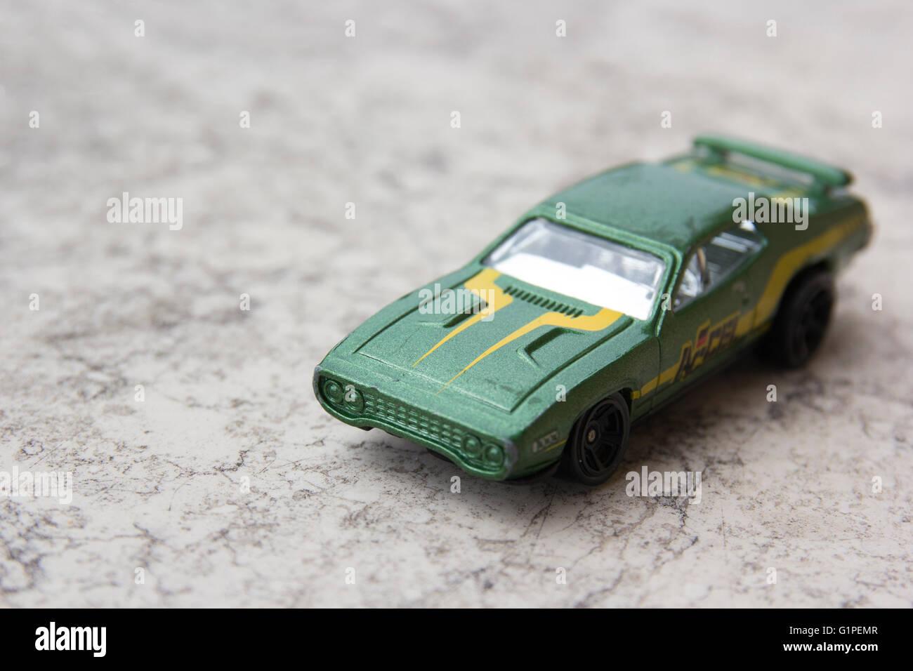Spielwaren: Green Car Modell Stockbild