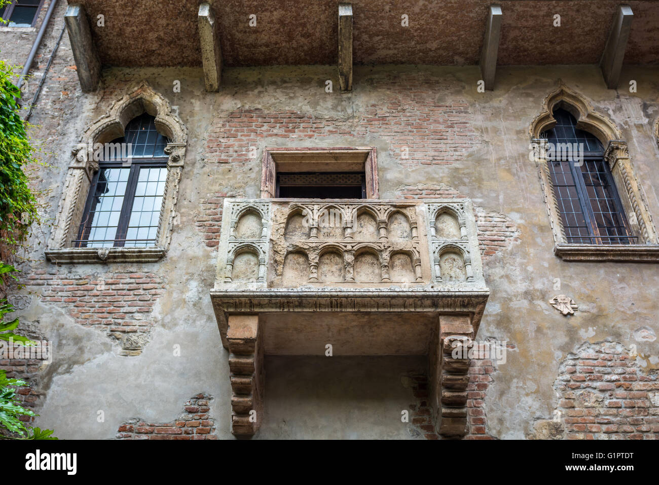 Romeo und Julia Balkon Stockbild