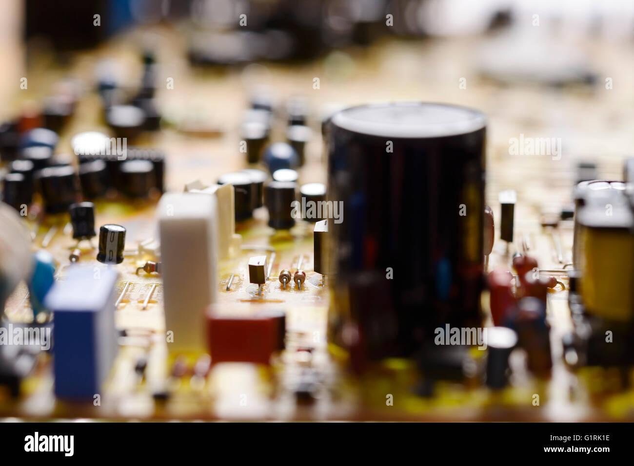 Printed Circuit Board abstrakt Nahaufnahme detail Stockbild