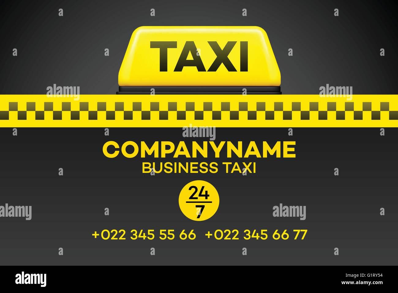 Taxi Visitenkarte Oder Flyer Vektor Illustration Vektor