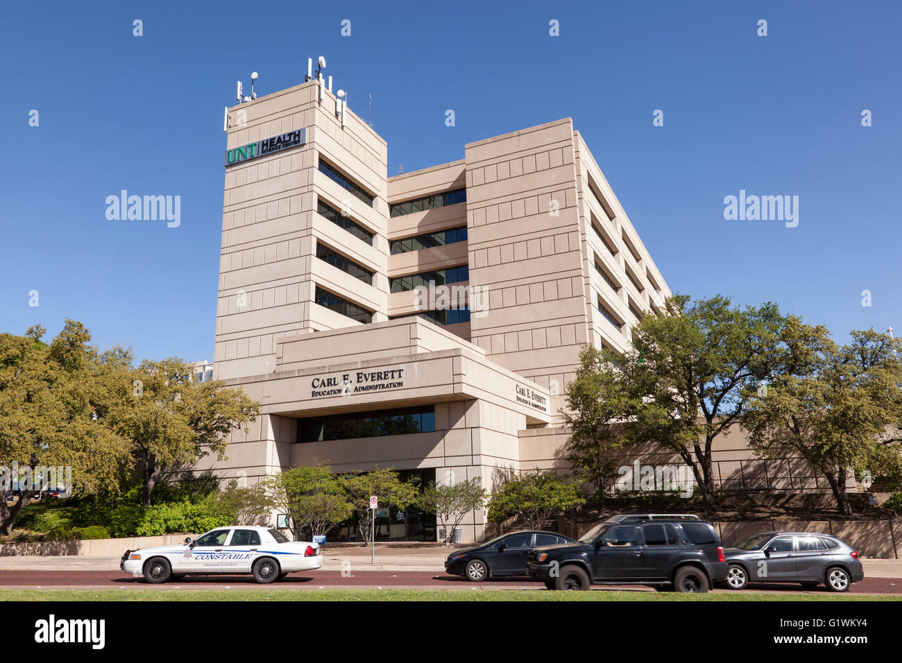 Der University of North Texas Health Science Center in der Stadt Fort Worth Stockbild