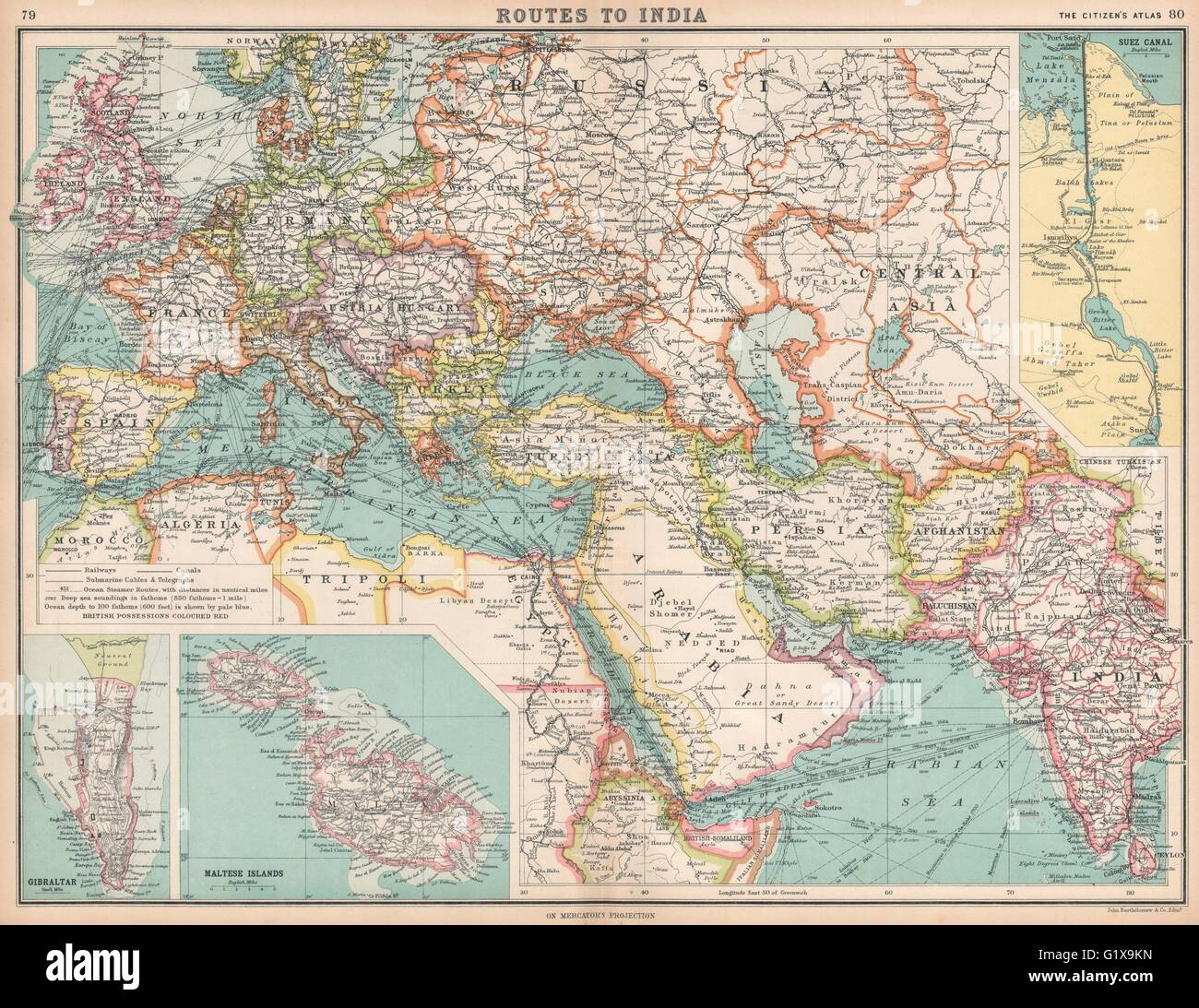 Map Maps Europe Middle East Stockfotos & Map Maps Europe ...