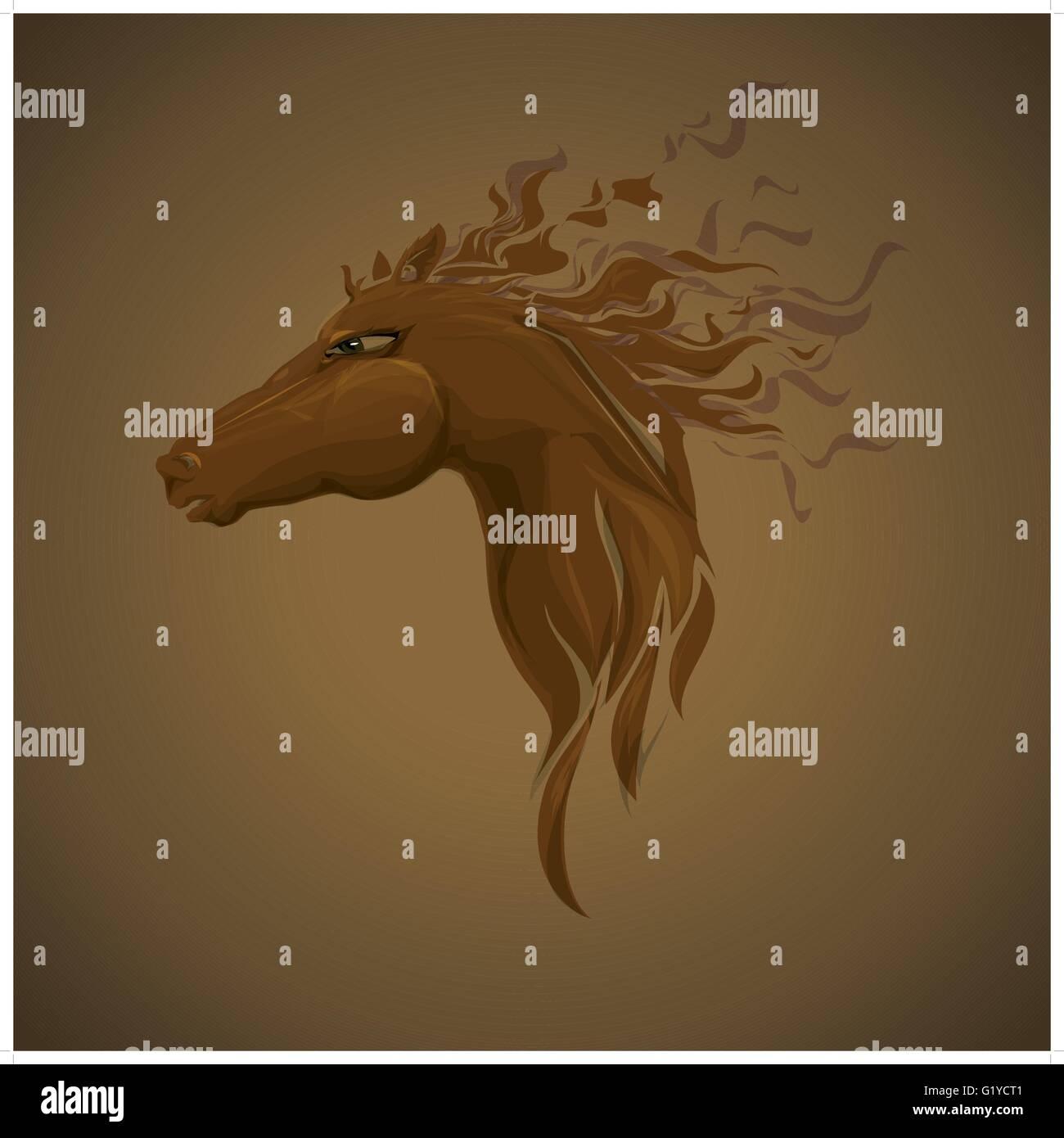 Kopf des Pferdes. Für jedes Design, wie T-shirt Poster usw. Stockbild