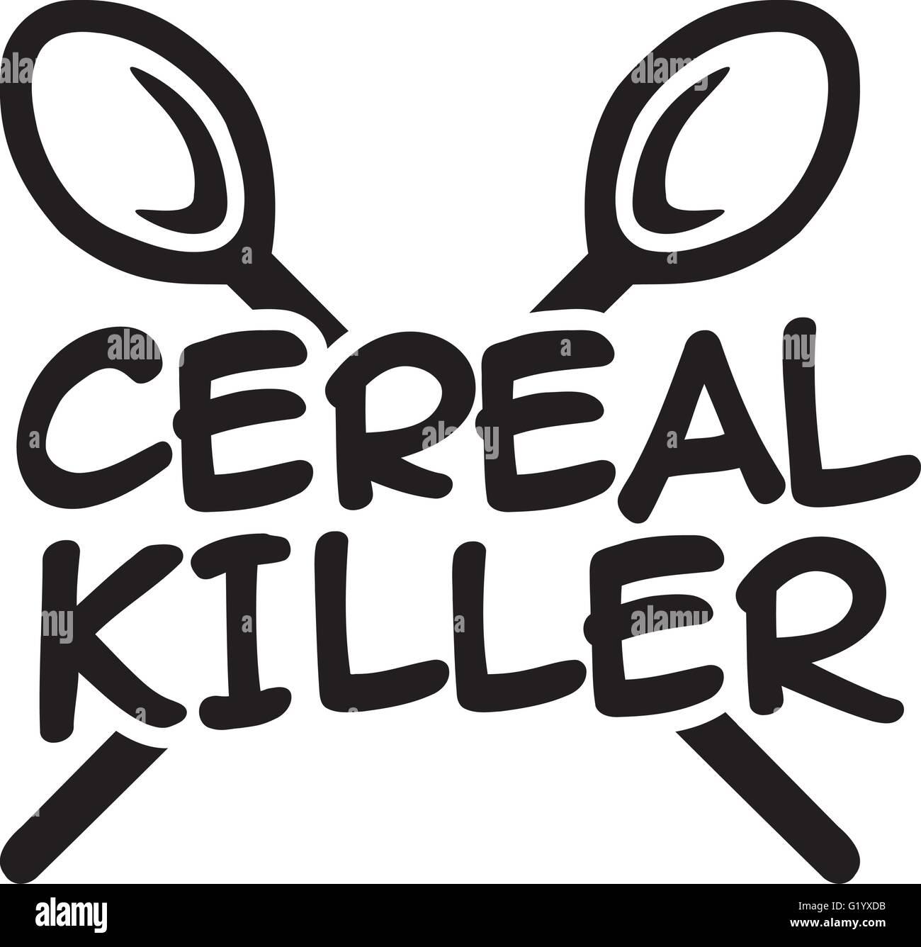 Cereal Killer mit Löffel Stockbild