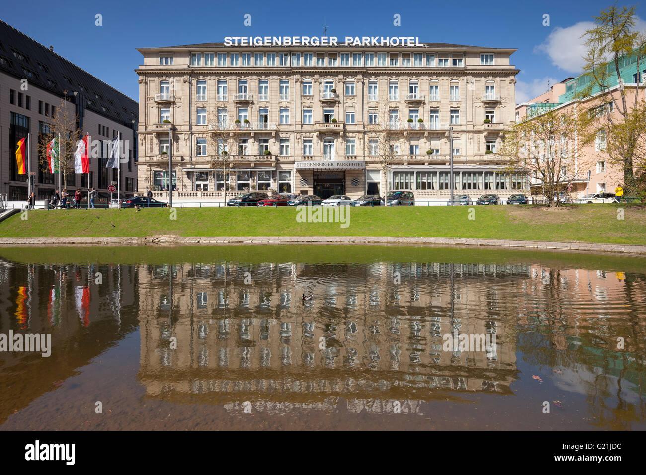 steigenberger parkhotel 5 sterne hotel d sseldorf nordrhein westfalen deutschland stockfoto. Black Bedroom Furniture Sets. Home Design Ideas