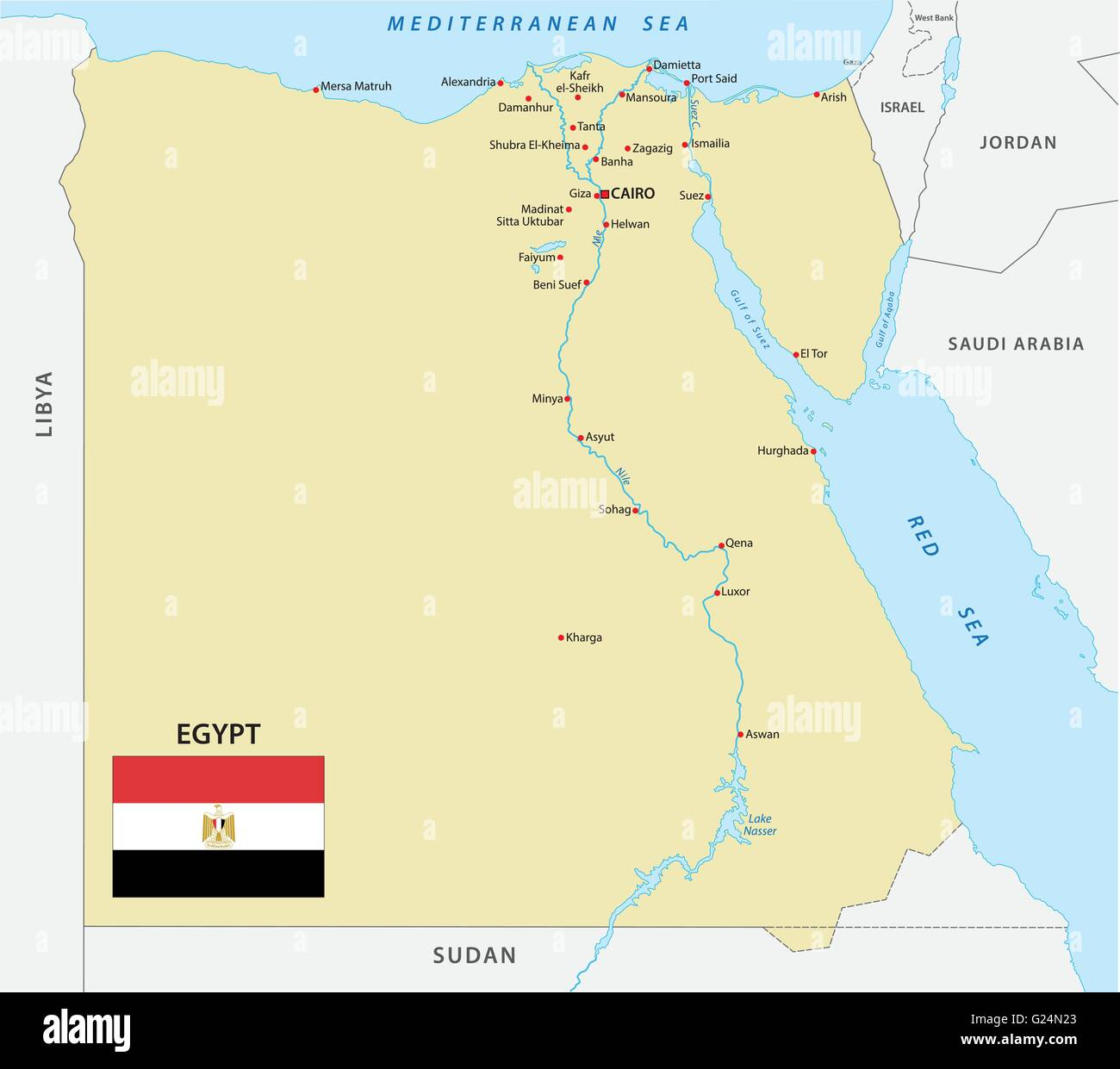 Egypt Map Stockfotos & Egypt Map Bilder - Alamy