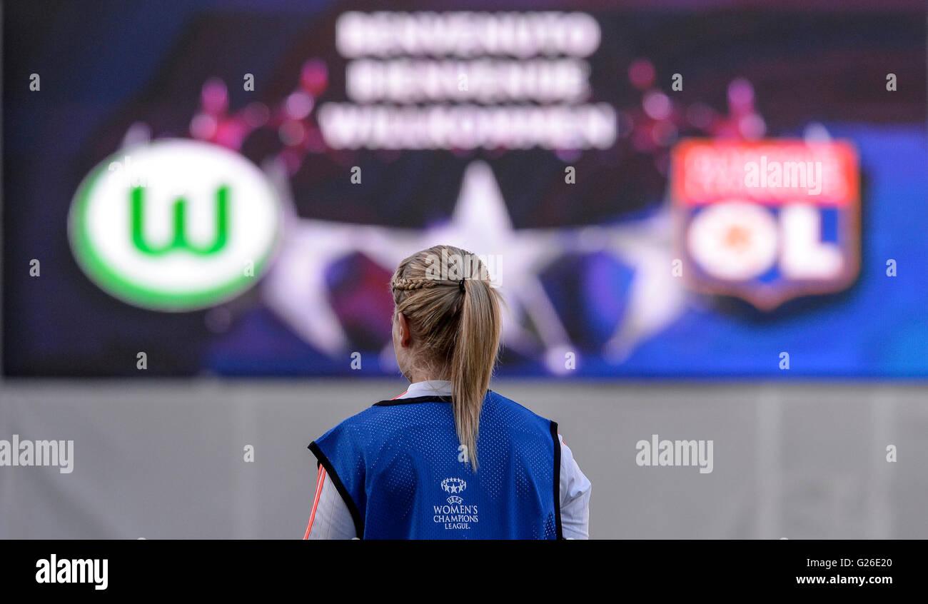 Reggio Emilia, Italien. 25 Mai, 2016: Ada Hegerberg bei Olympique ...