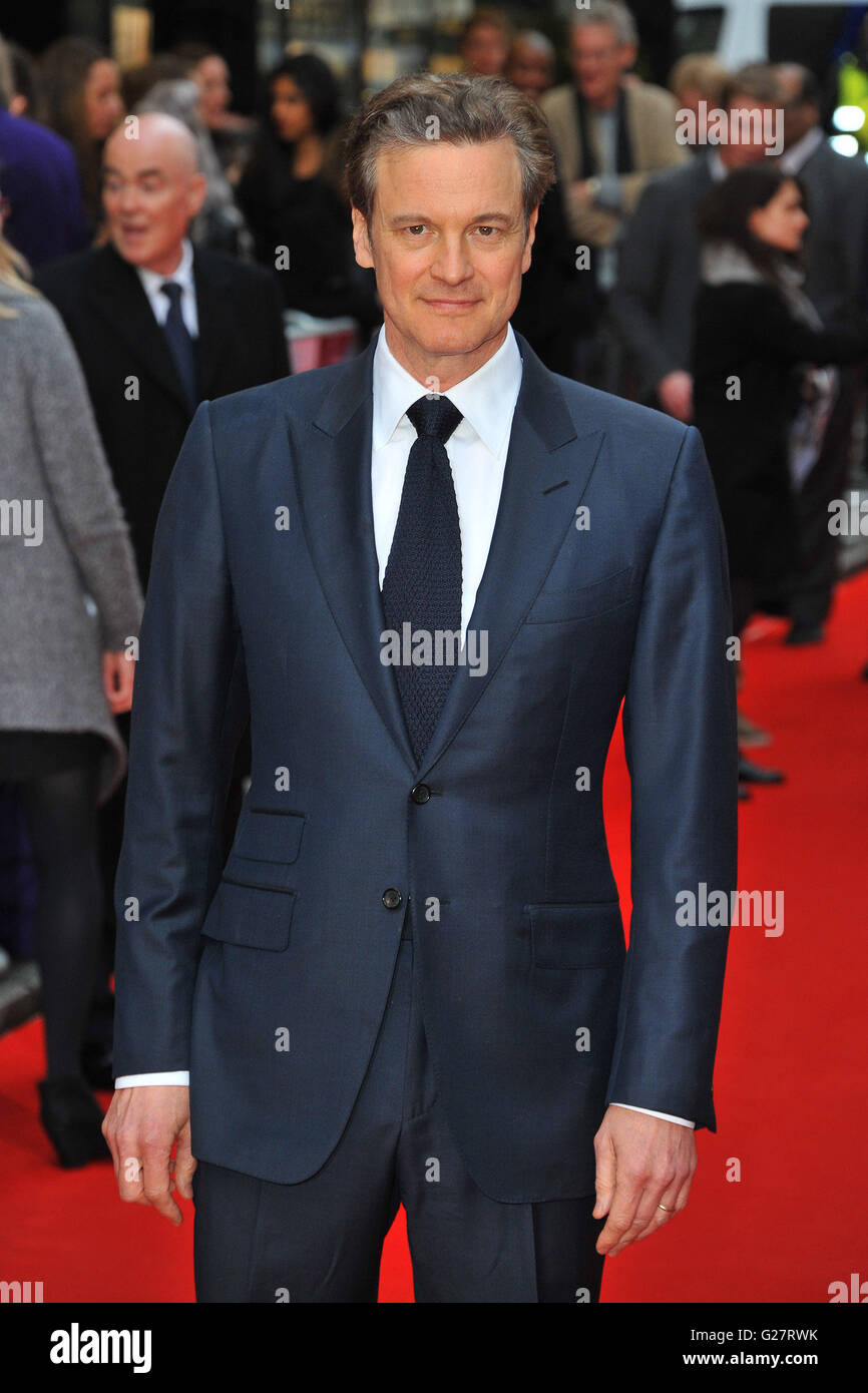 """Eye In The Sky """"-UK-Premiere bei der Curzon Mayfair in London, England. 11. April 2016.  Mit: Colin Firth wo: Stockbild"""