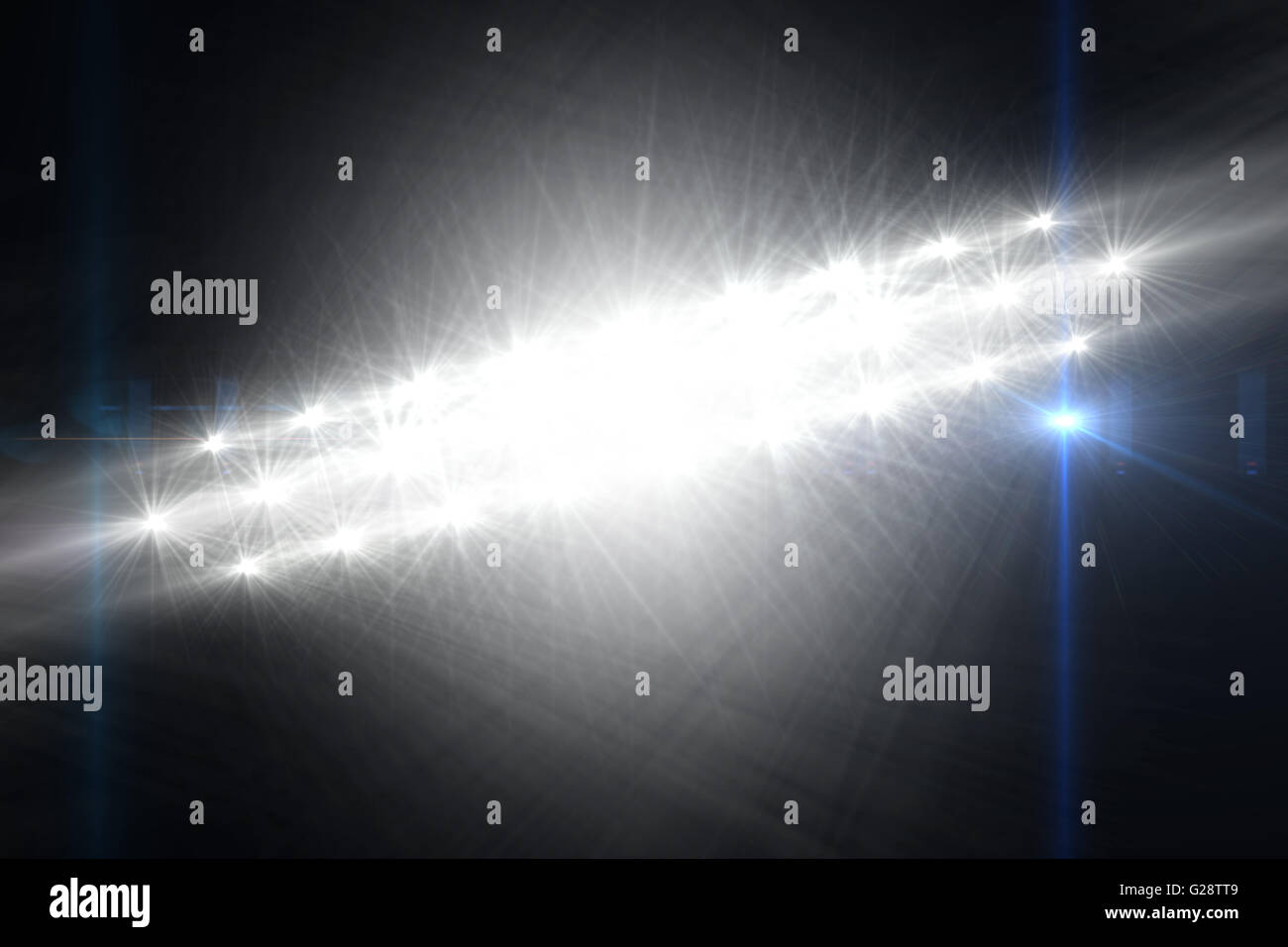 Digital erzeugte Bild der Strahler Stockbild