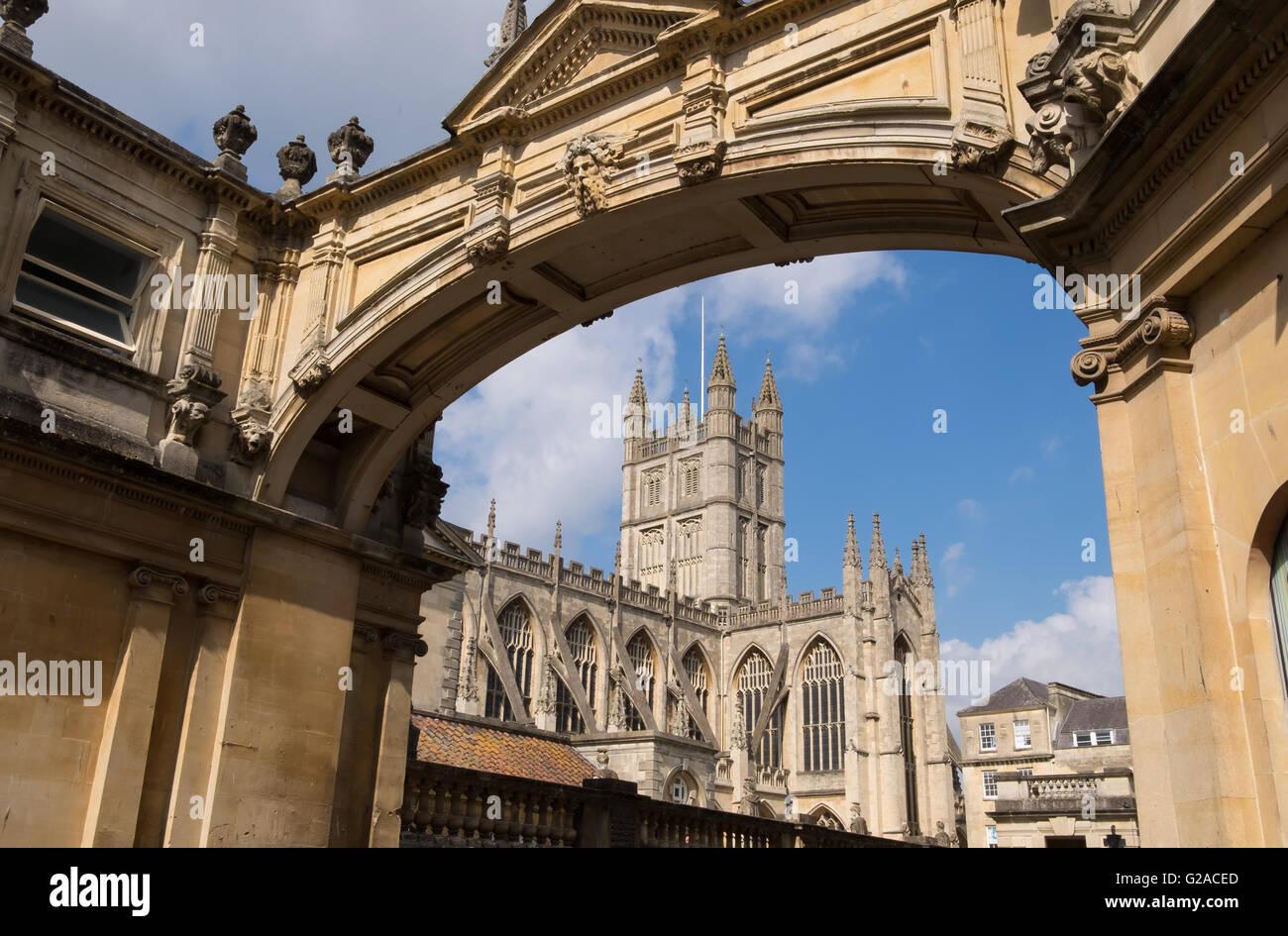 Abteikirche von Bath, Somerset, England Stockbild