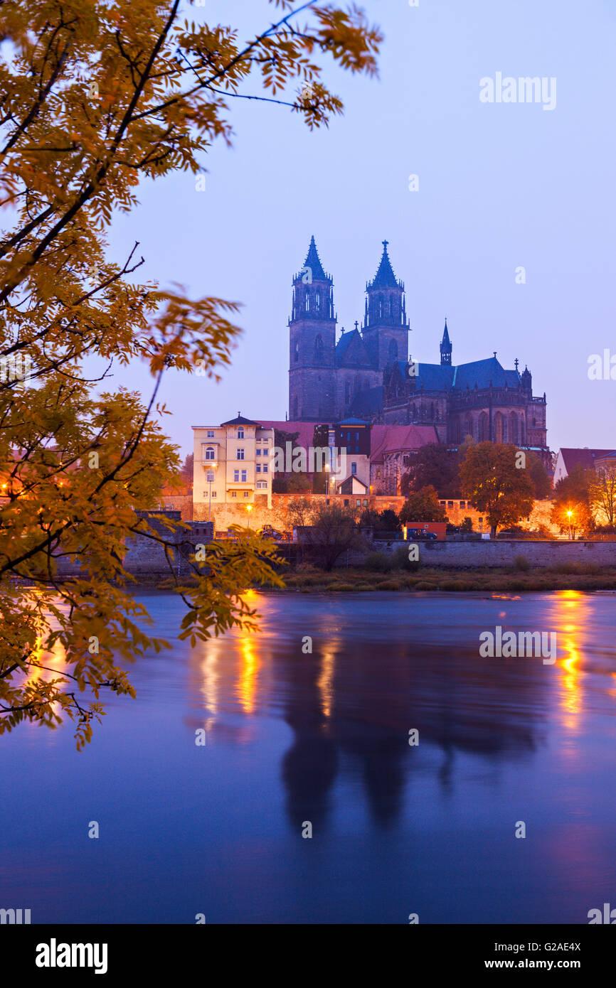Magdeburger Dom-Magdeburg, Niedersachsen, Deutschland Stockbild