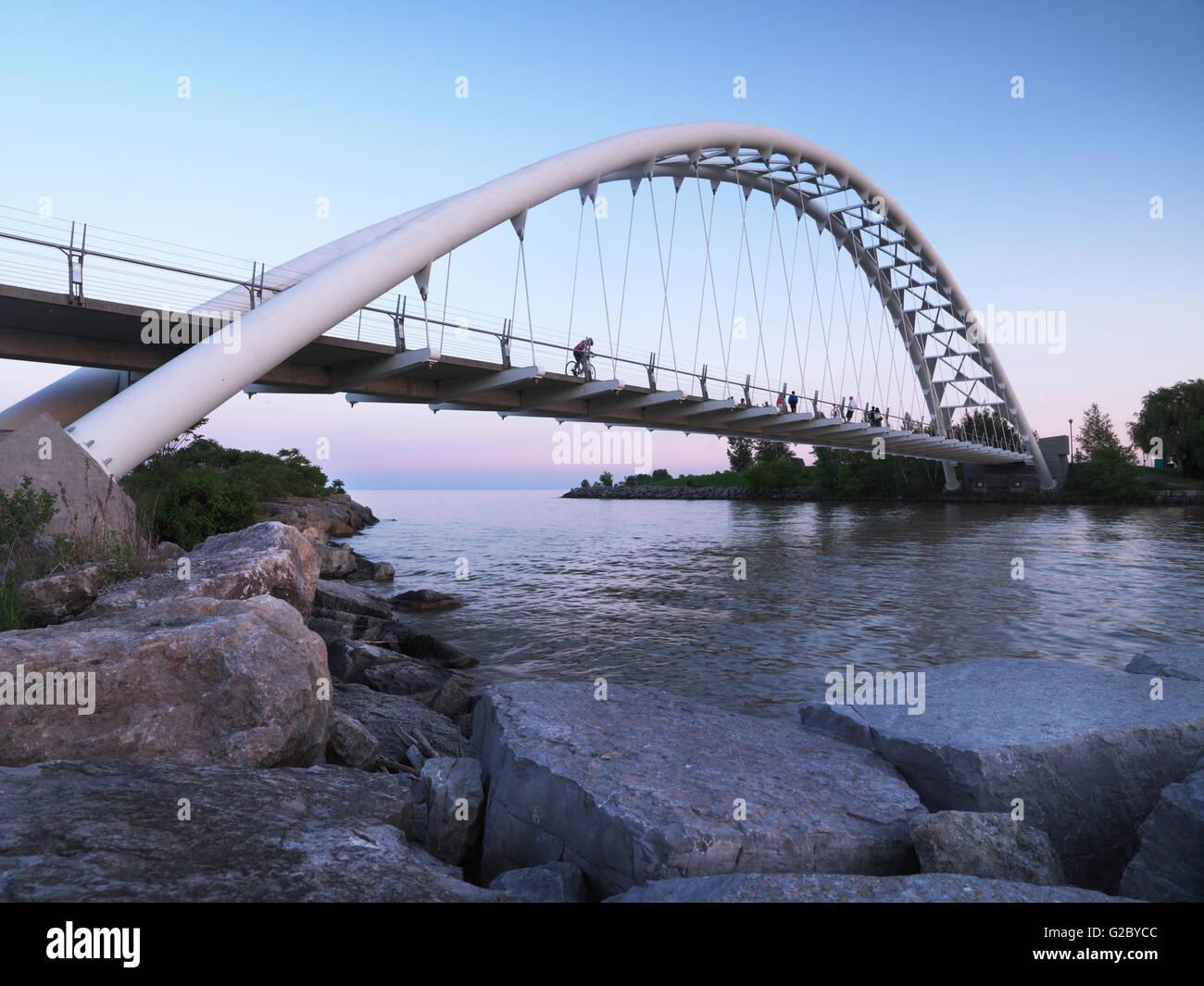Humber River-Bogen-Brücke, Toronto, Provinz Ontario, Kanada Stockbild