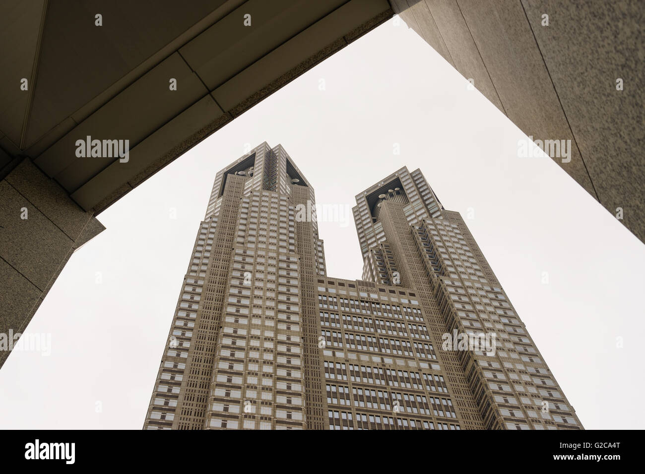 Das Tokyo Metropolitan Government Building, Shinjuku, Tokio, Japan. Stockbild