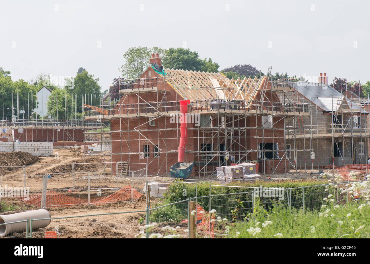 Haus zu bauen, uk Stockbild