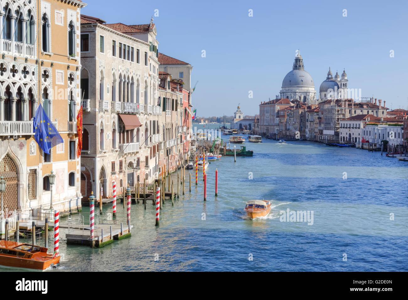 Canal Grande, Venedig, Veneto, Italien Stockfoto