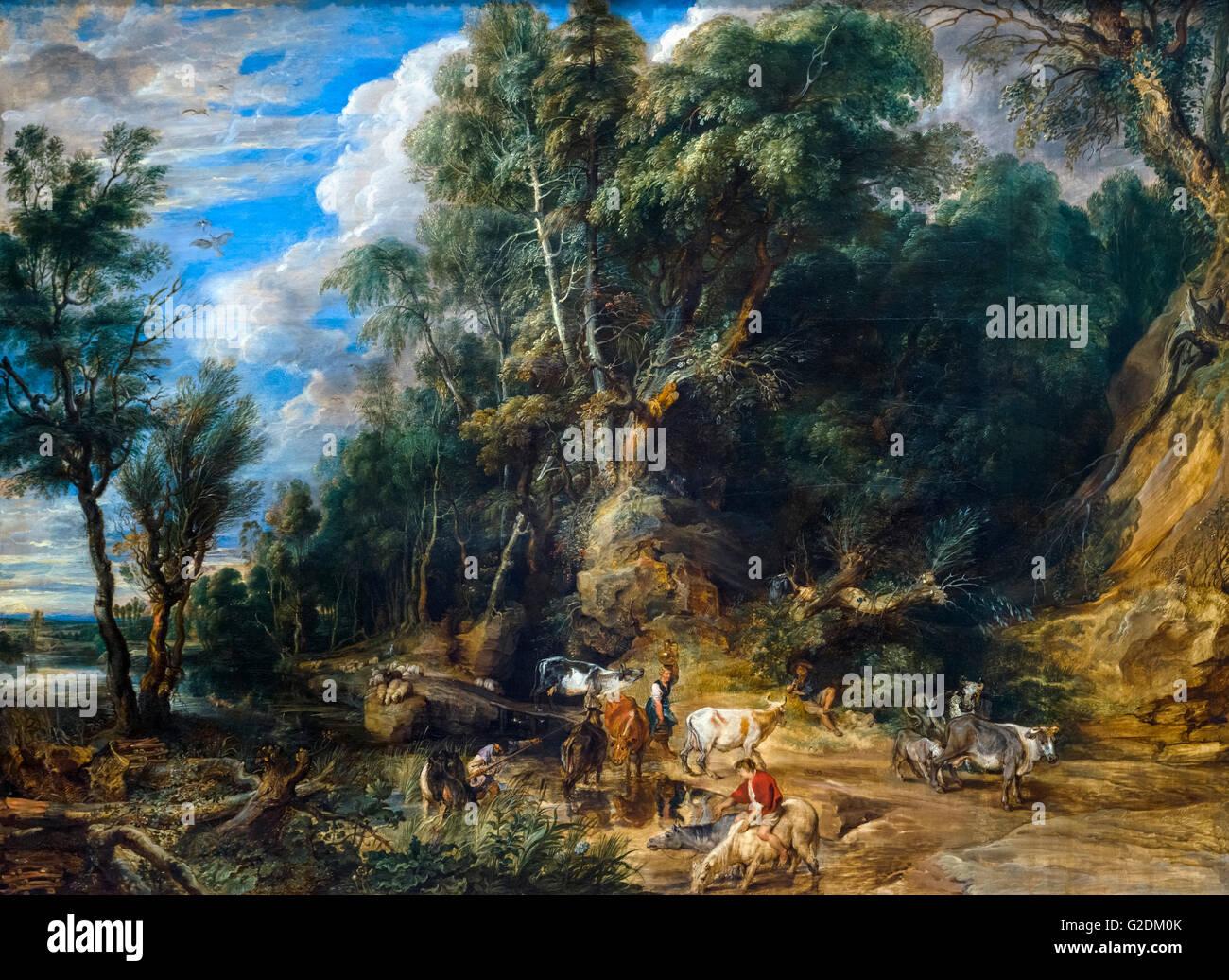 Die Tränke von Rubens, Öl auf Leinwand, 1615-22 Stockfoto, Bild ...