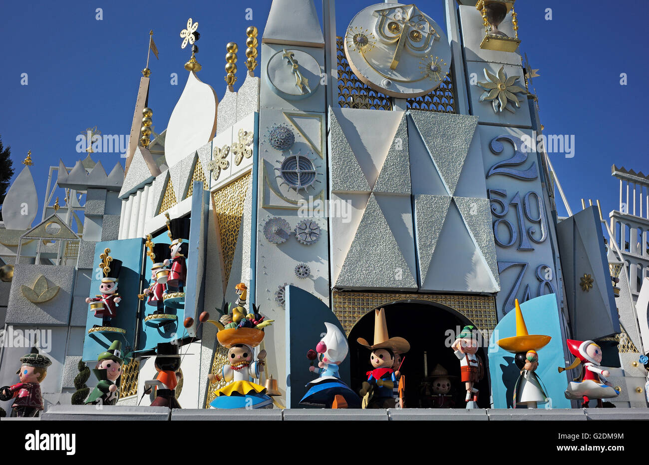Animierte Puppen gesehen in der Disneyland-It ist eine kleine Welt ...