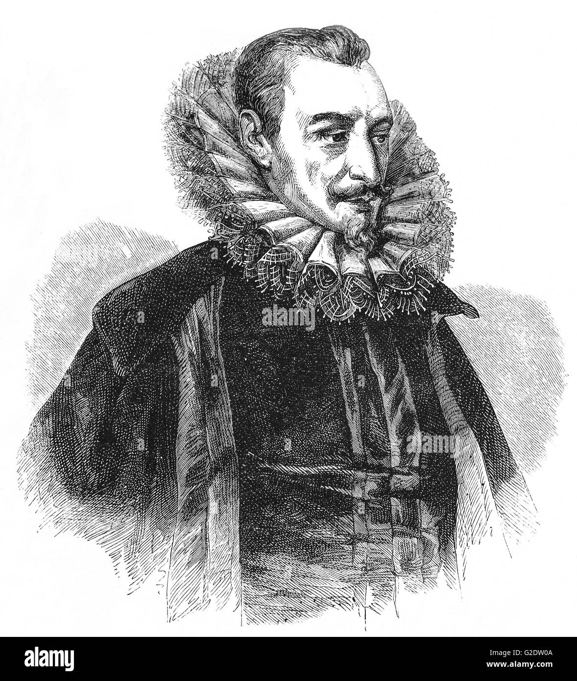 Edmund Spenser(1552-1599) war ein englischer Dichter am besten bekannt für The Faerie Robert, ein episches Stockbild